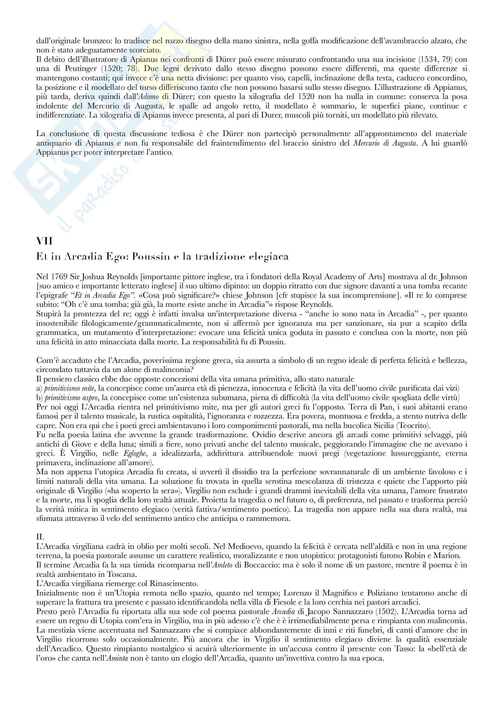 Riassunto esame Iconologia, prof. Cavicchioli, libro consigliato Significato nelle Arti Visive, Panofsky Pag. 21