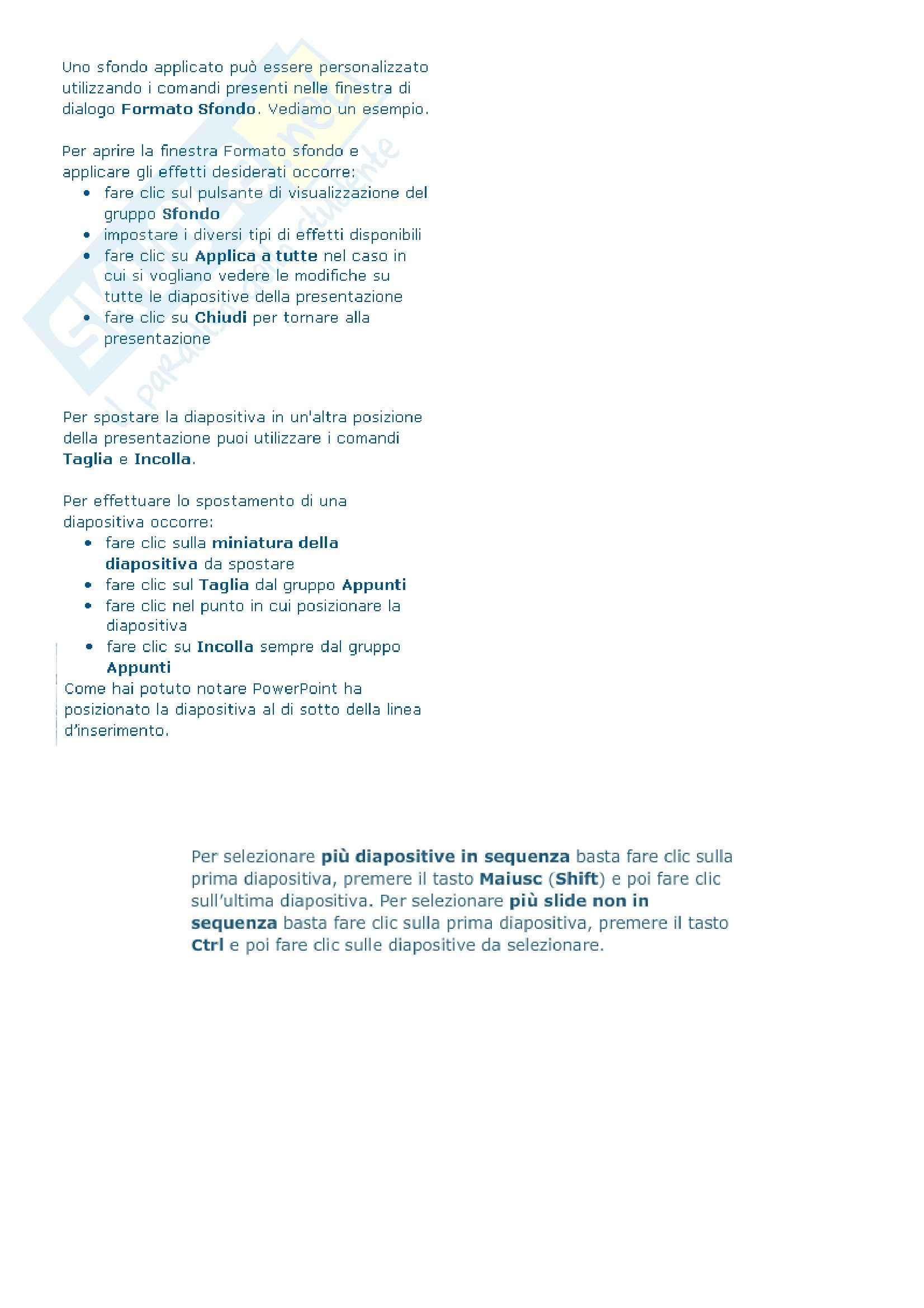 Ict e sistemi dell'informazione - Come presentare i dati in PowerPoint 2010 Pag. 26