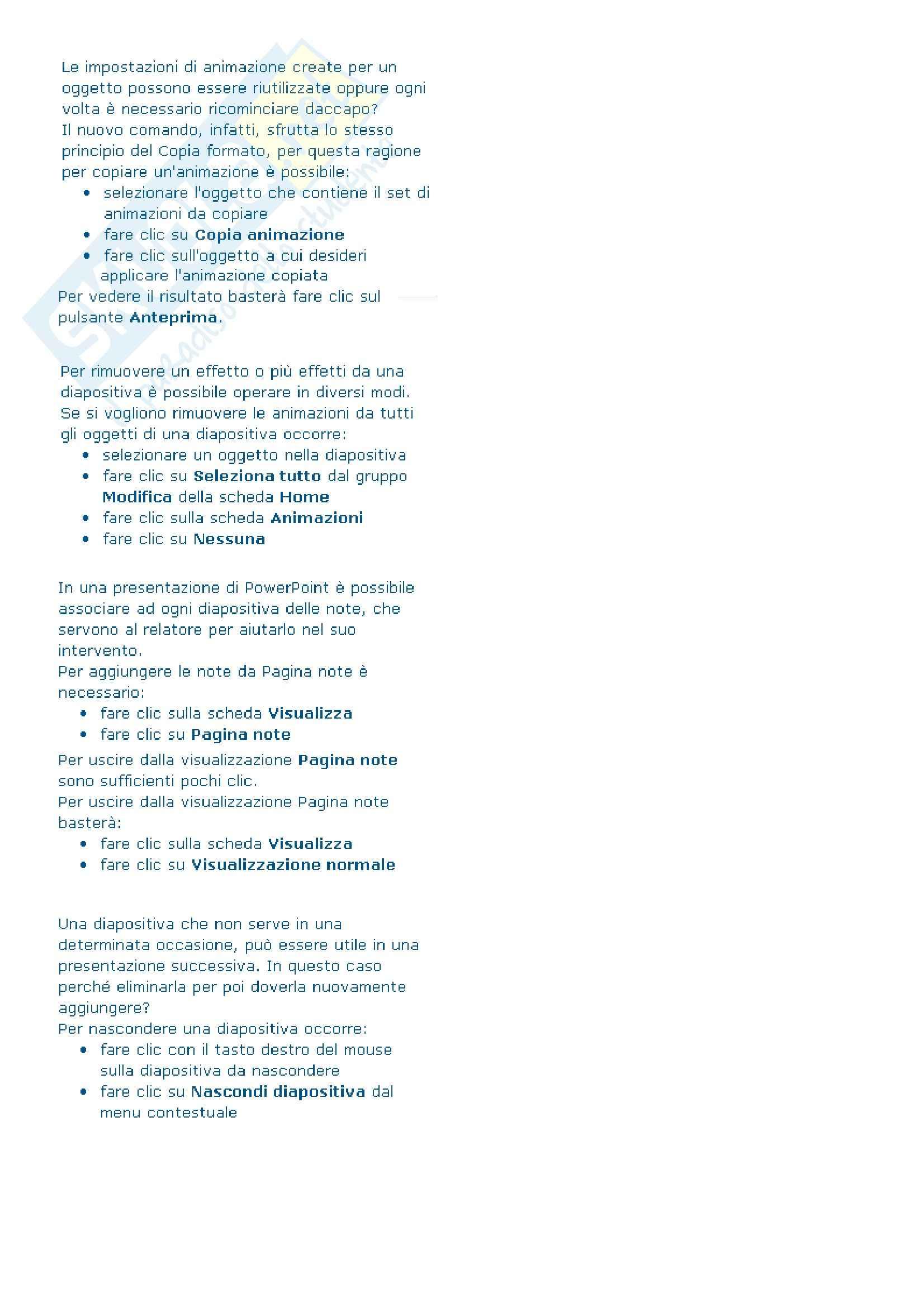 Ict e sistemi dell'informazione - Come presentare i dati in PowerPoint 2010 Pag. 61