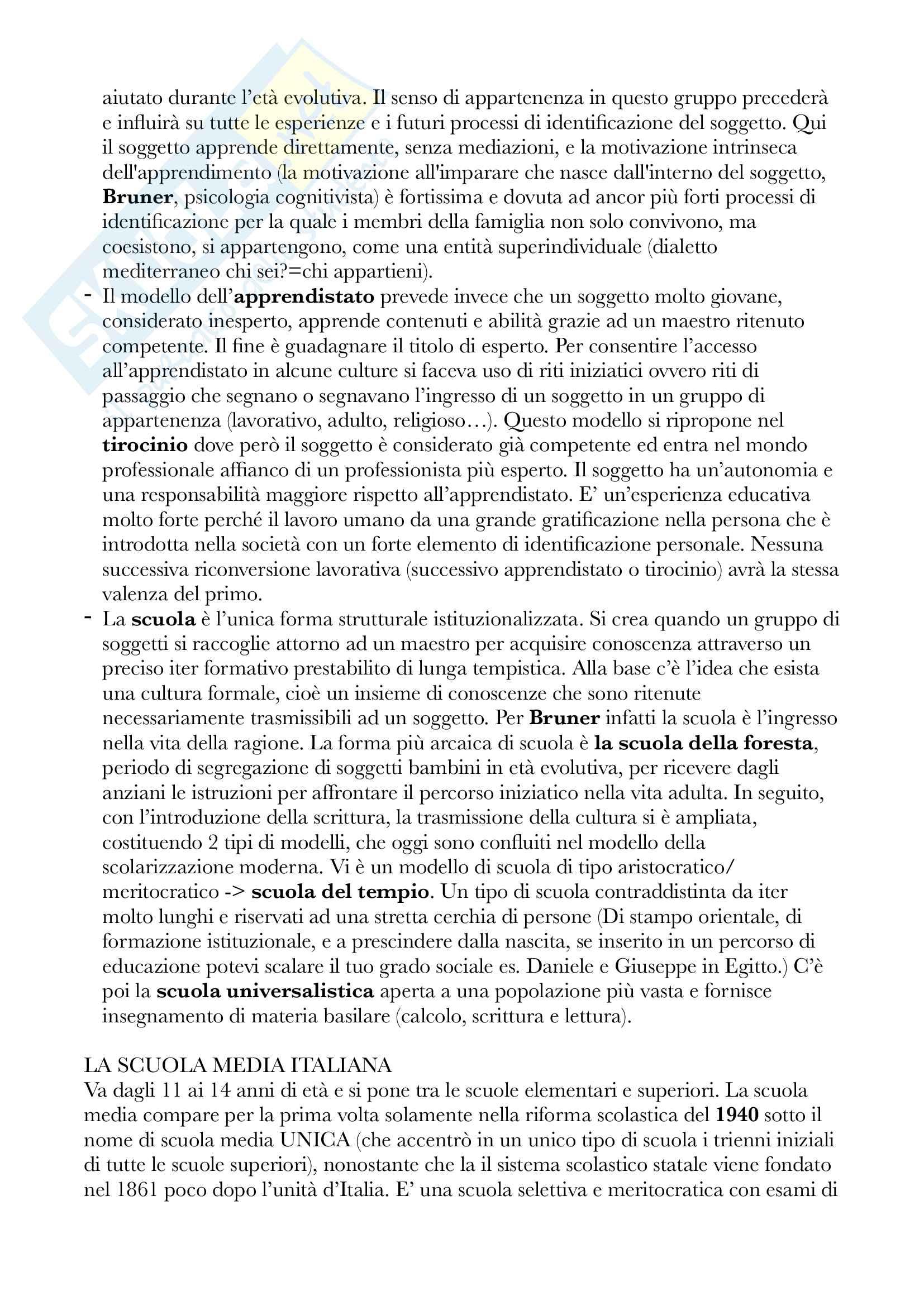 Riassunto esame Pedagogia, Docente Moscato. Libro consigliato Preadolescenti a Scuola Pag. 2