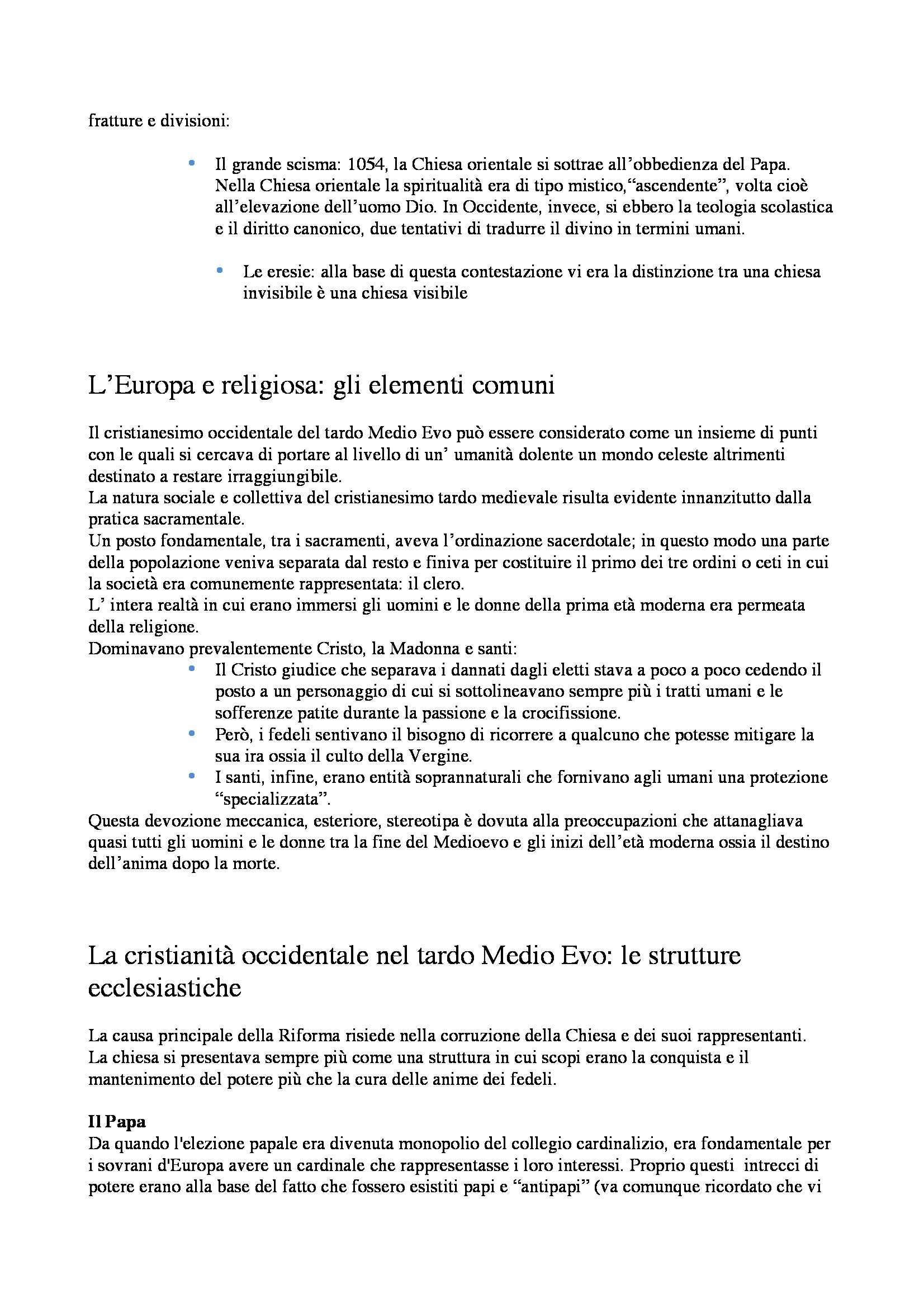 Riassunto esame Storia Moderna: Martin Lutero, prof. Dall'Olio Pag. 2