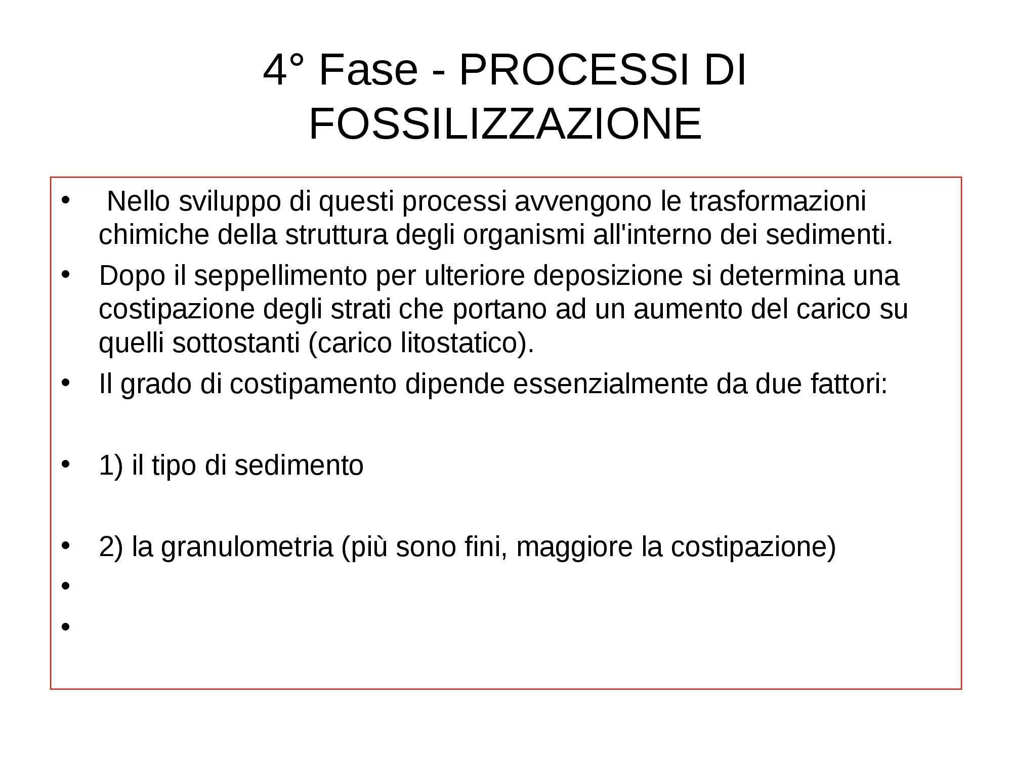 Fossili - Processi di fossilizzazione