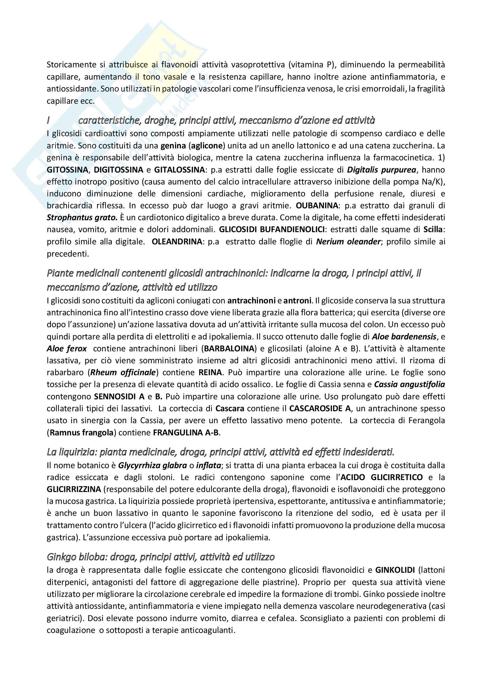 Domande farmacognosia Pag. 6
