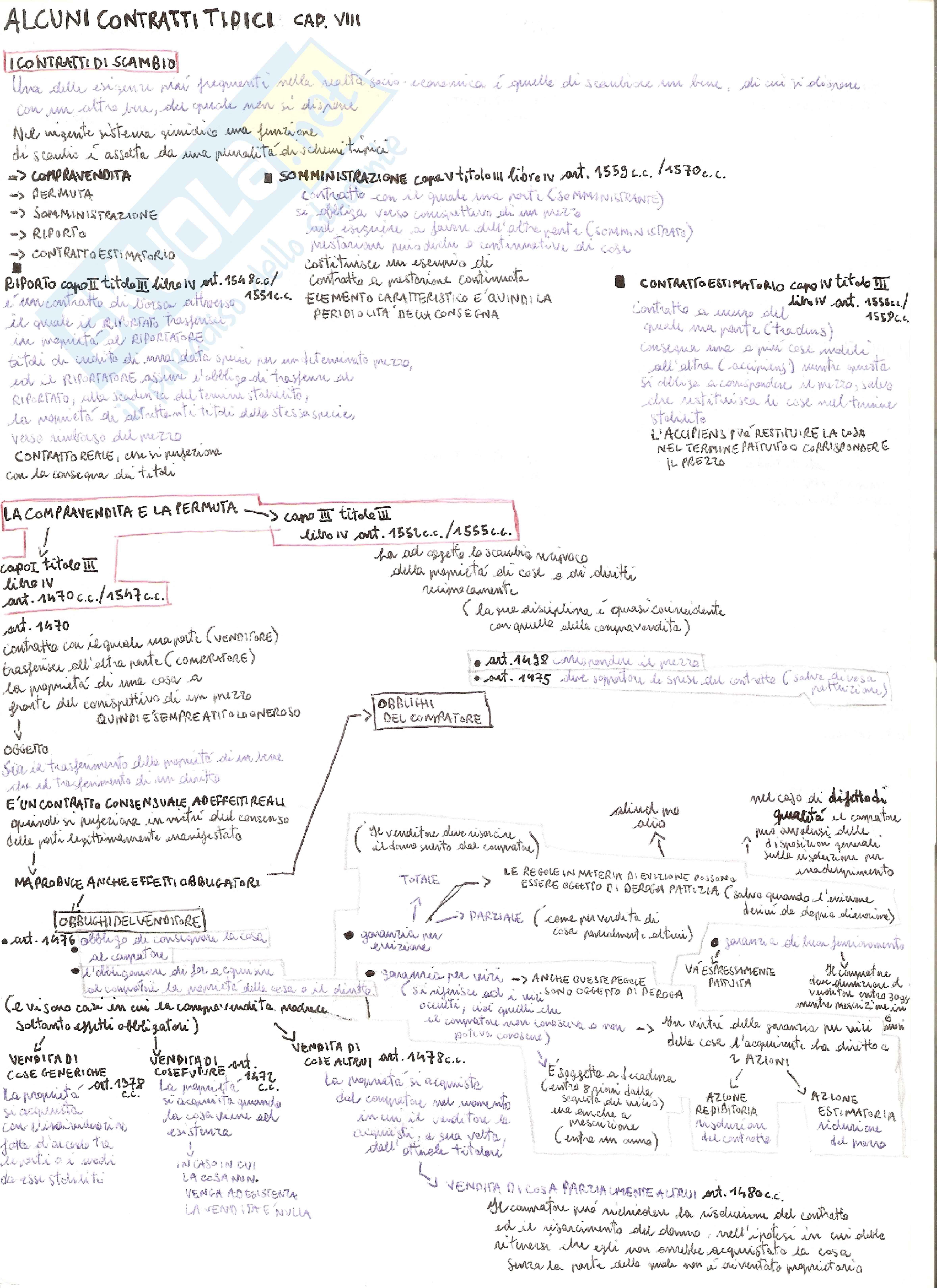 Contratti tipici - Esempi Pag. 1