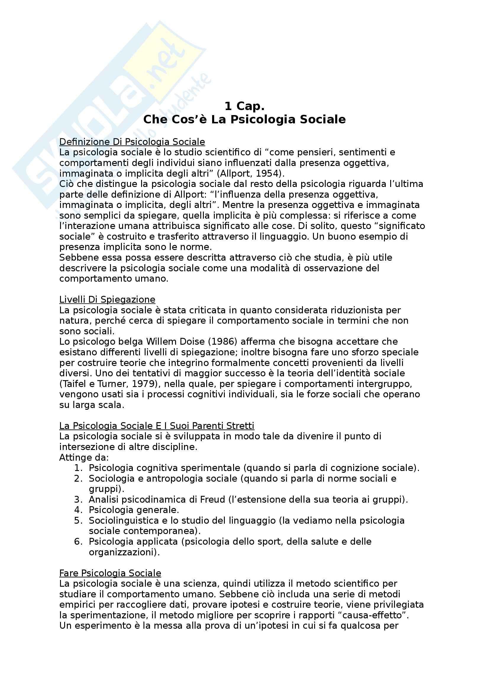 appunto S. Mannarini Psicologia sociale