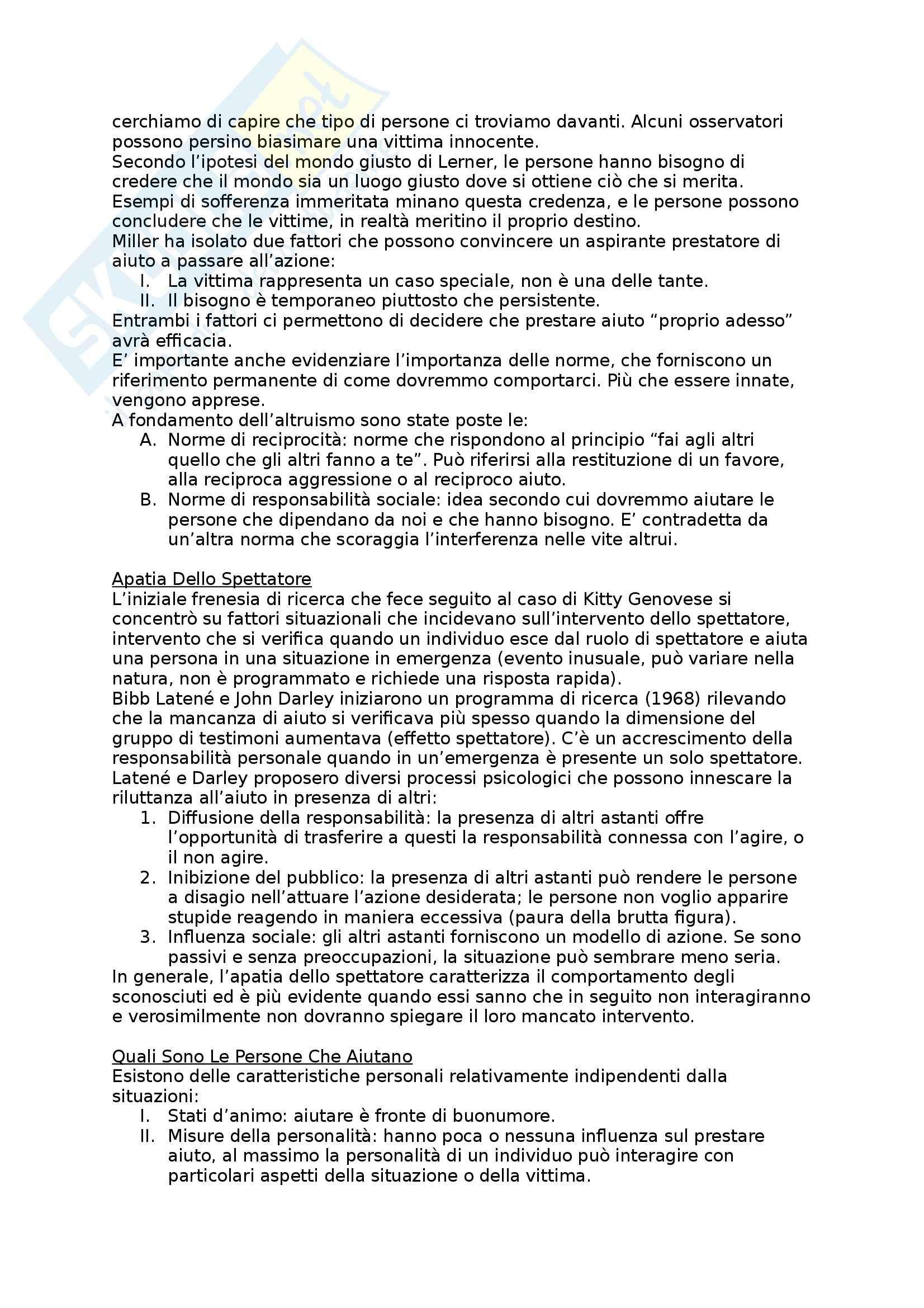 Riassunto esame Psicologia Sociale, prof. Mannarini, libro consigliato Psicologia Sociale, Teorie e Applicazioni, Hogg, Vaughan Pag. 36