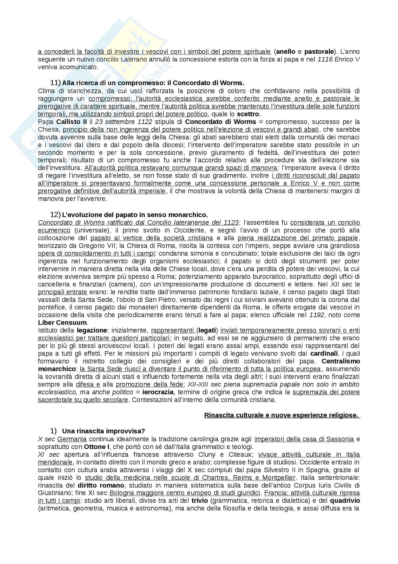 Riassunto esame Storia Medievale, prof. Figliuolo, libro consigliato Medioevo, Vitolo - terza parte Pag. 11