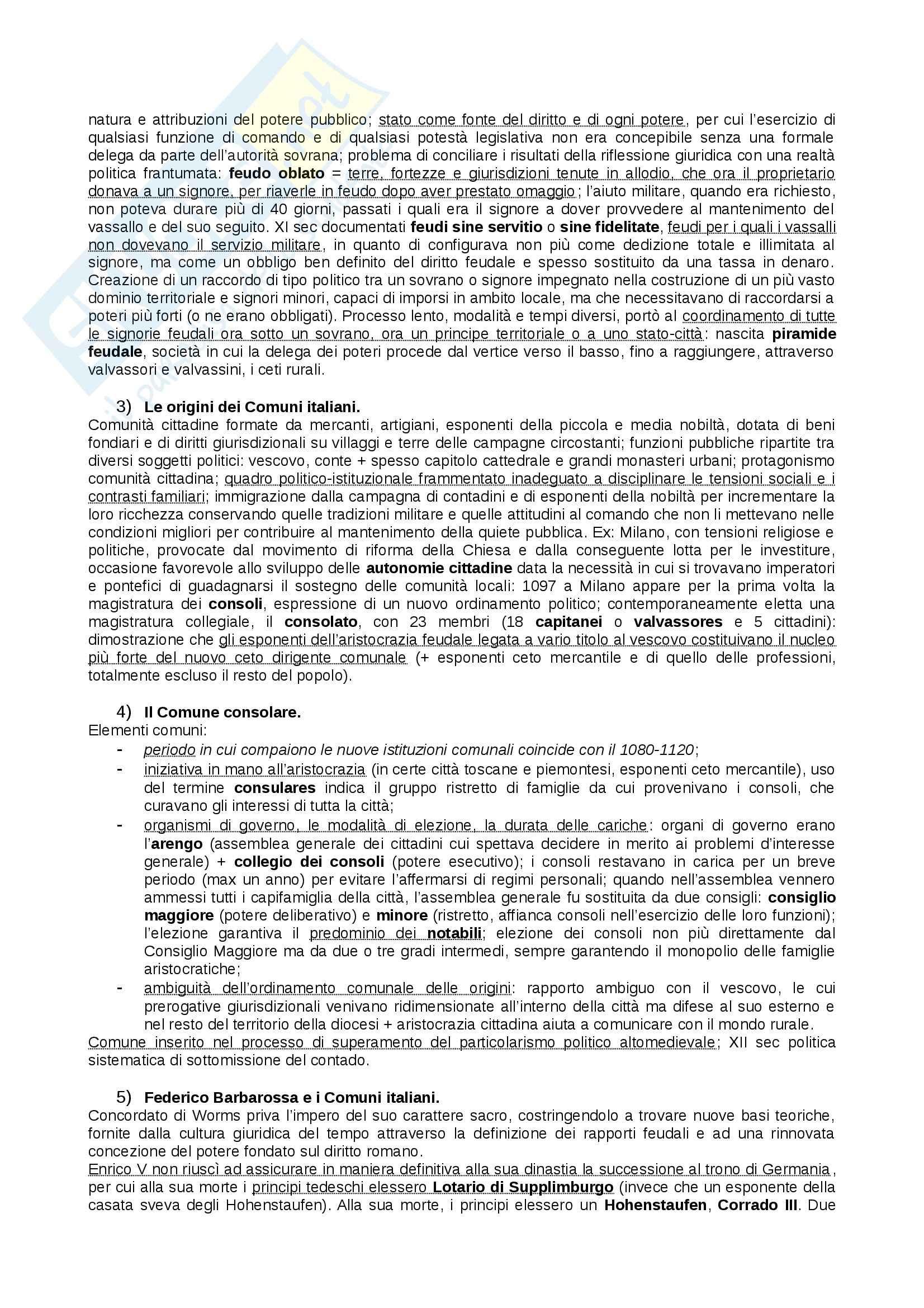 Riassunto esame Storia Medievale, prof. Figliuolo, libro consigliato Medioevo, Vitolo - terza parte Pag. 16