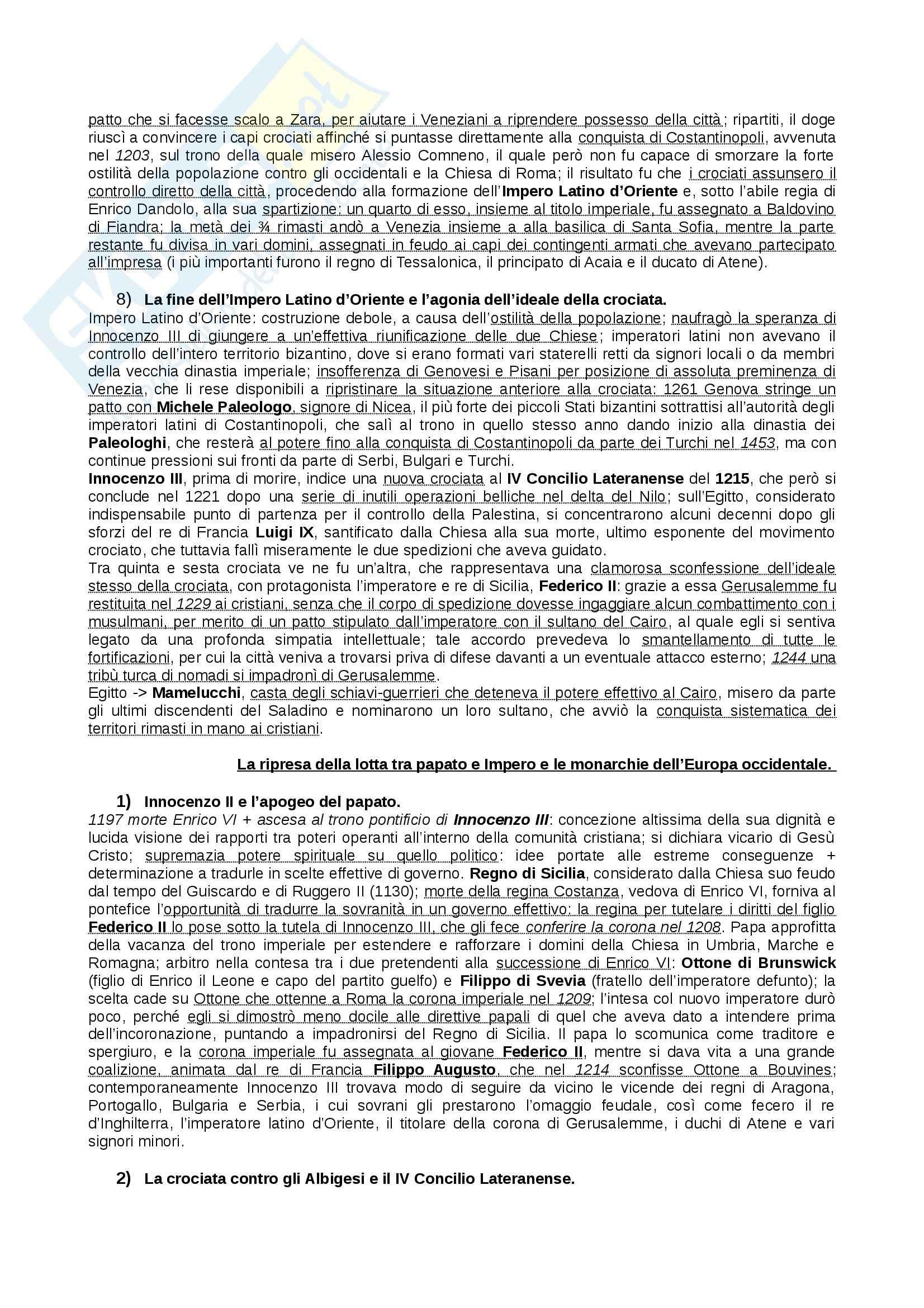 Riassunto esame Storia Medievale, prof. Figliuolo, libro consigliato Medioevo, Vitolo - terza parte Pag. 21