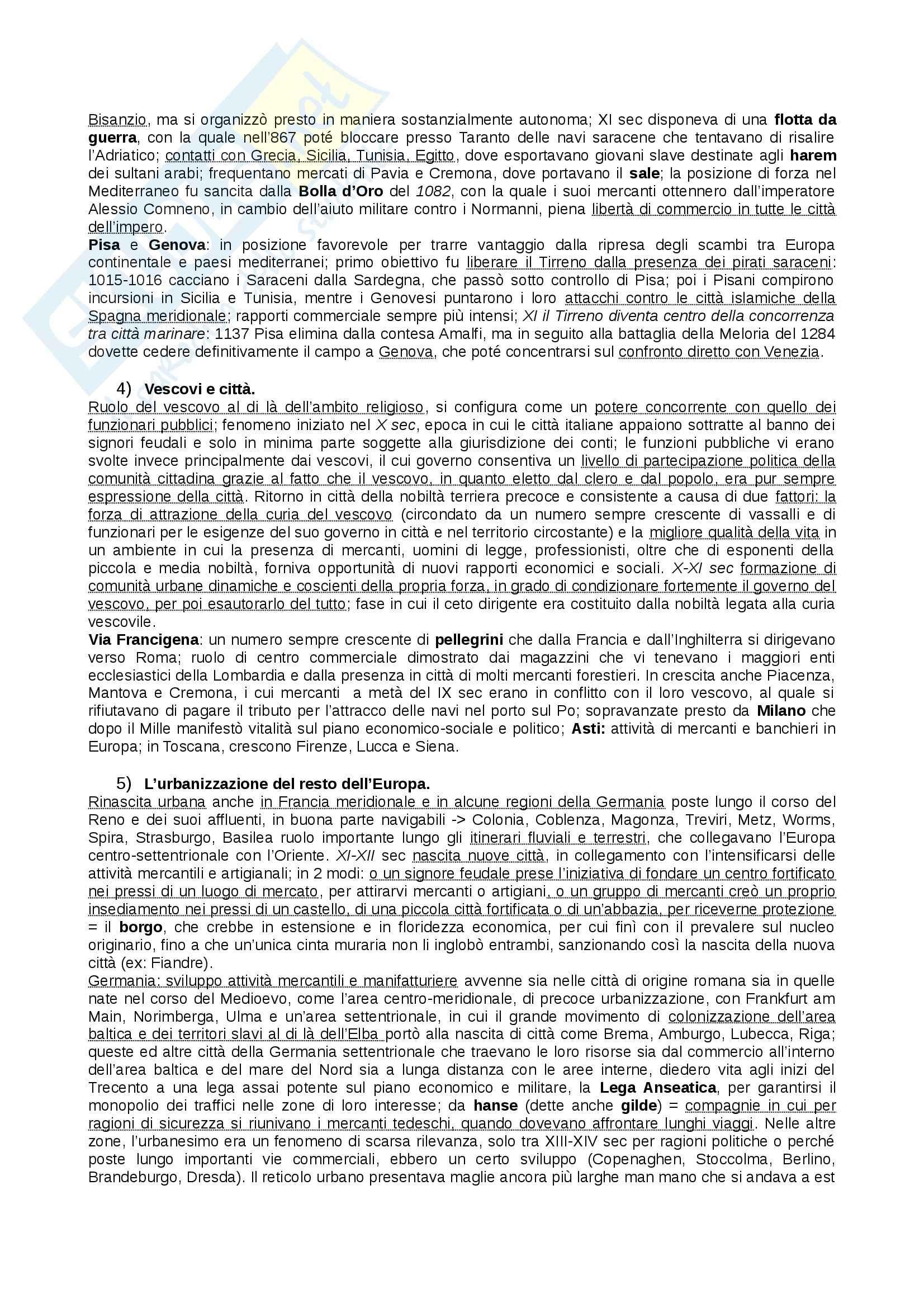 Riassunto esame Storia Medievale, prof. Figliuolo, libro consigliato Medioevo, Vitolo - terza parte Pag. 6
