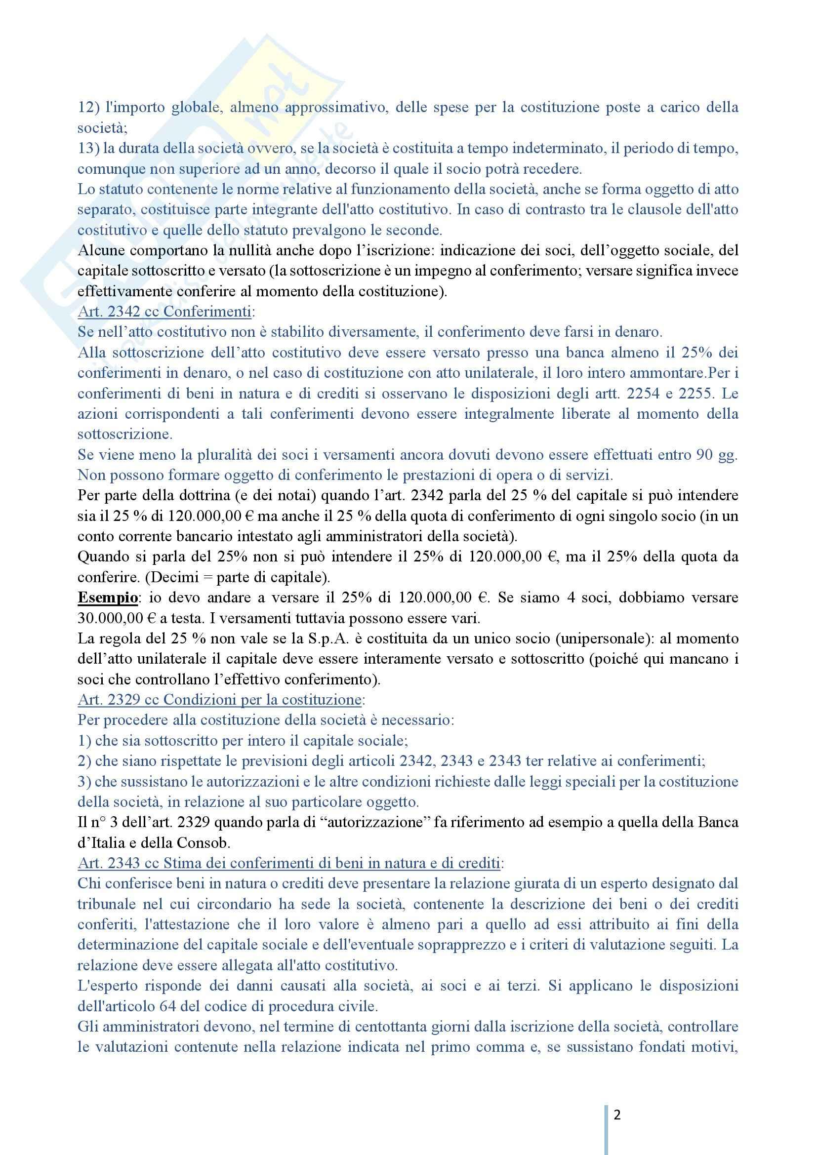 Diritto Commerciale 2 - Le società di capitali e le società cooperative Pag. 2