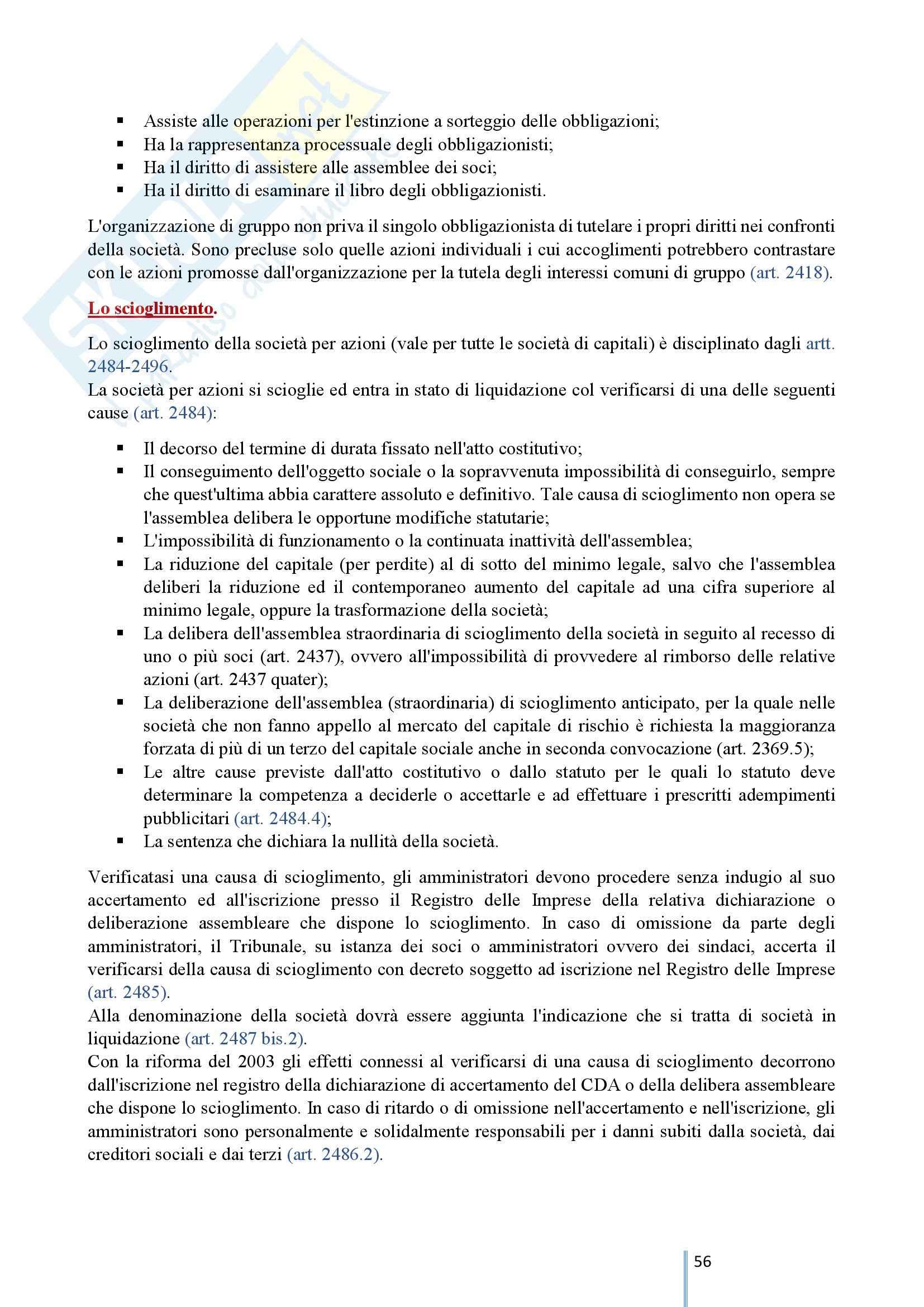 Diritto Commerciale 2 - Le società di capitali e le società cooperative Pag. 56