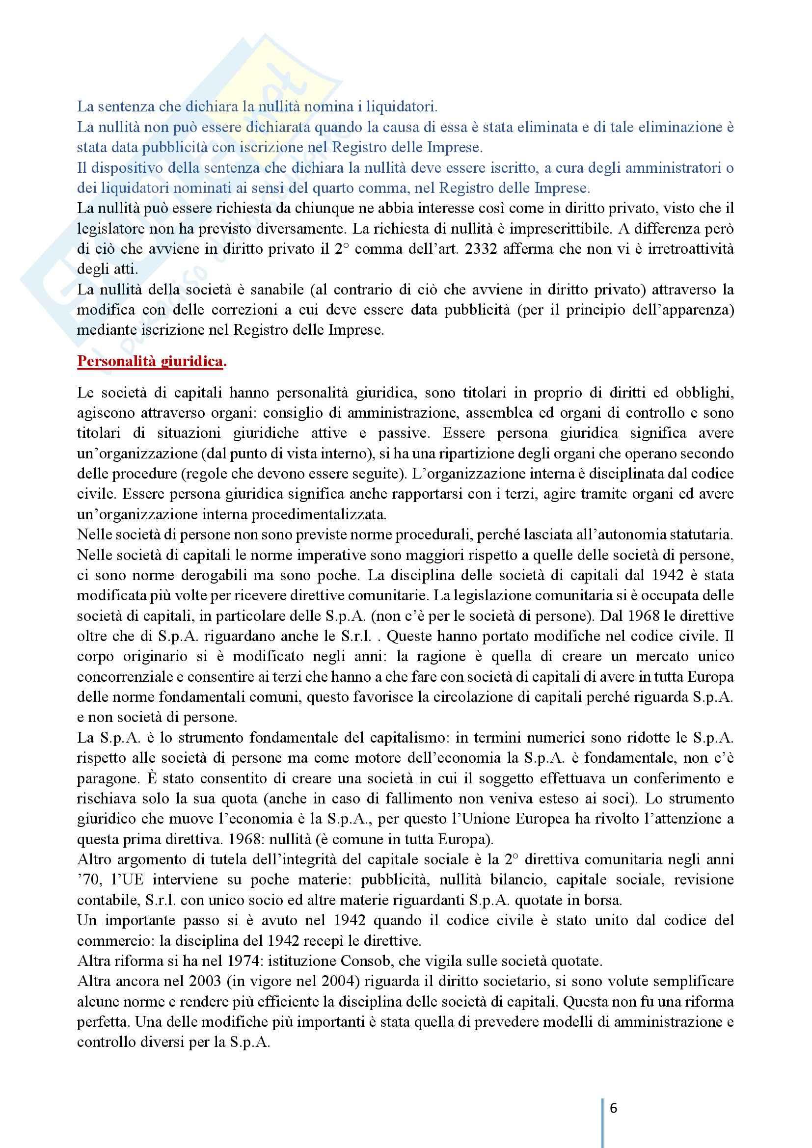 Diritto Commerciale 2 - Le società di capitali e le società cooperative Pag. 6
