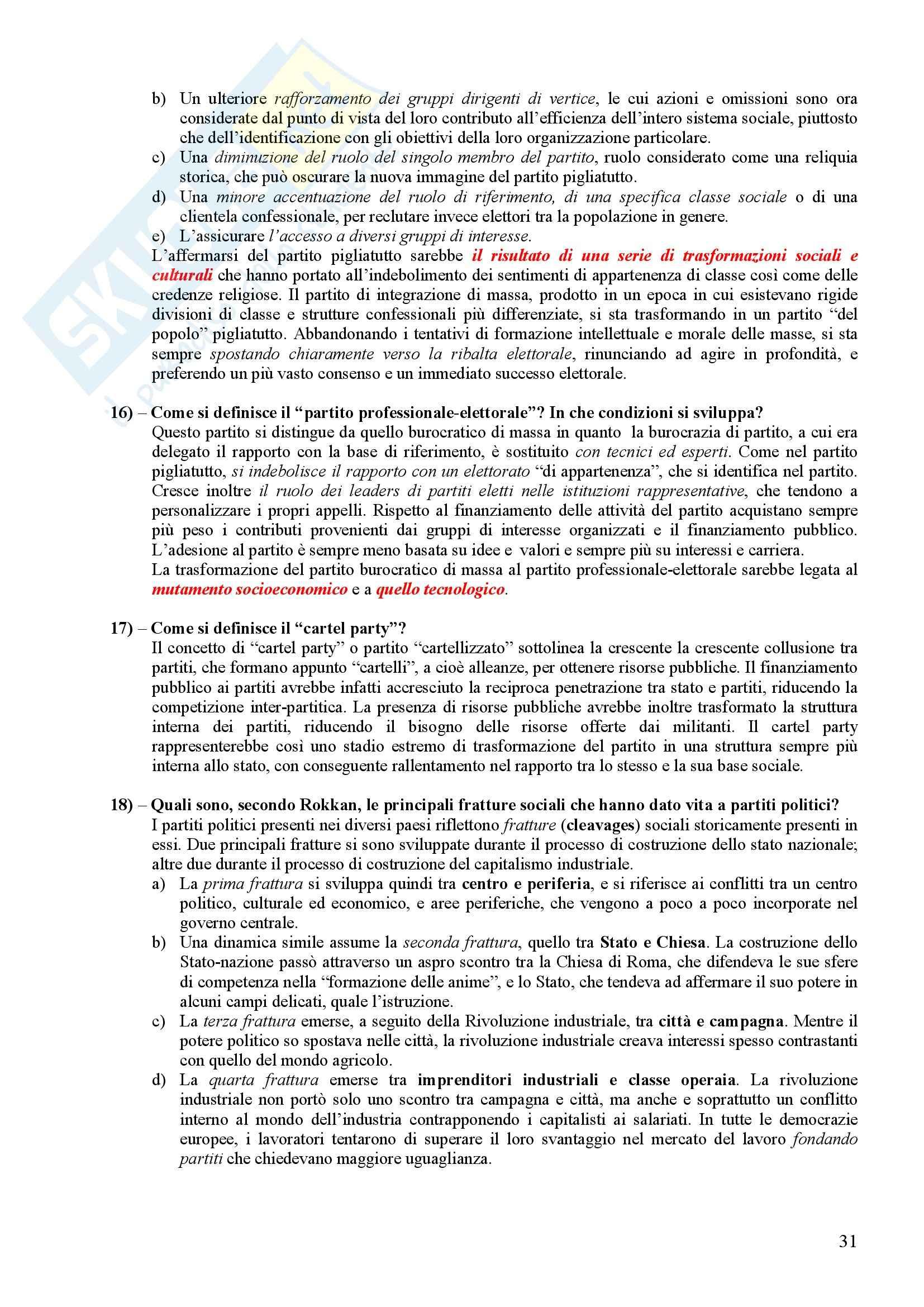 Scienza politica - Domande e risposte Pag. 31