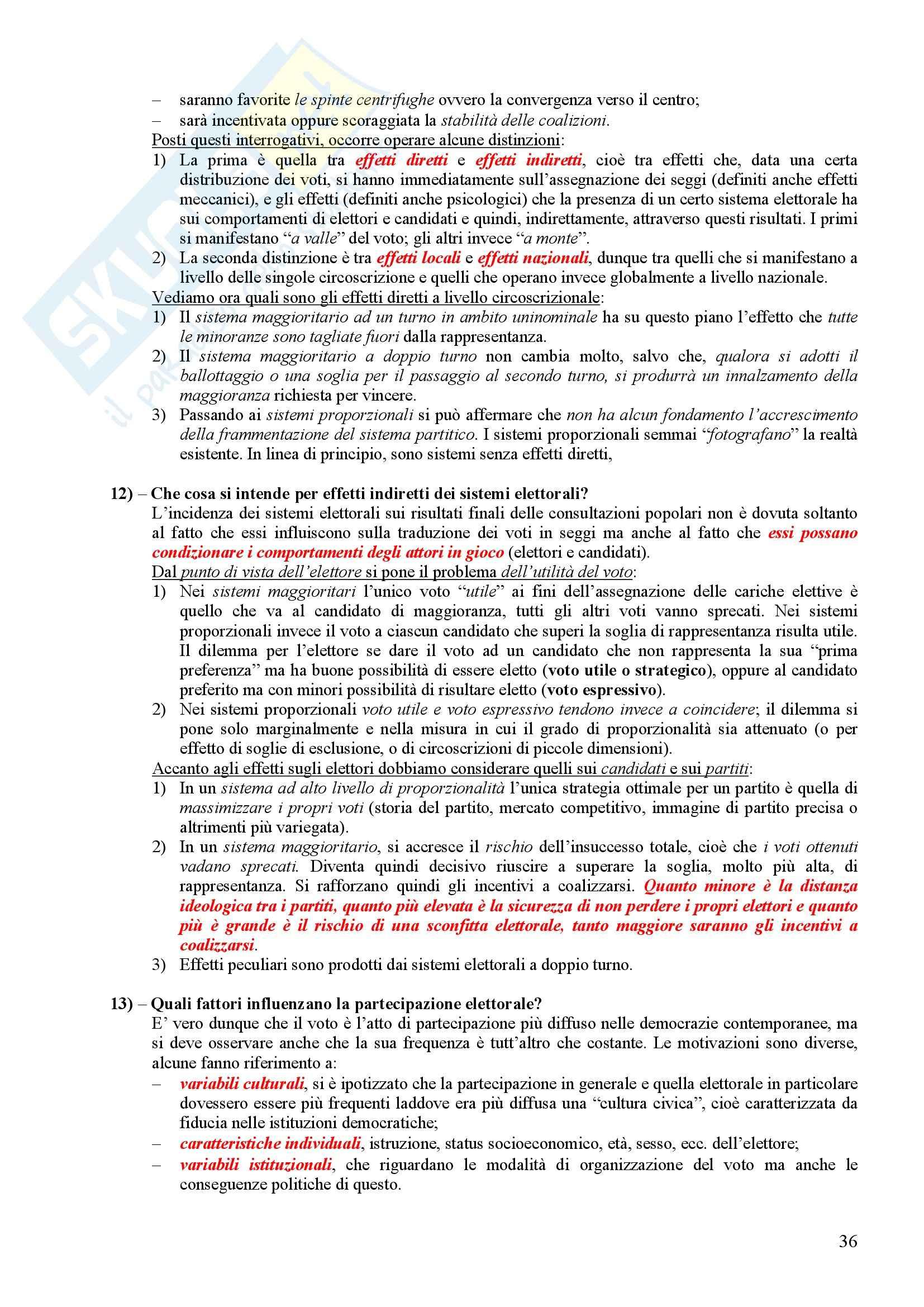 Scienza politica - Domande e risposte Pag. 36