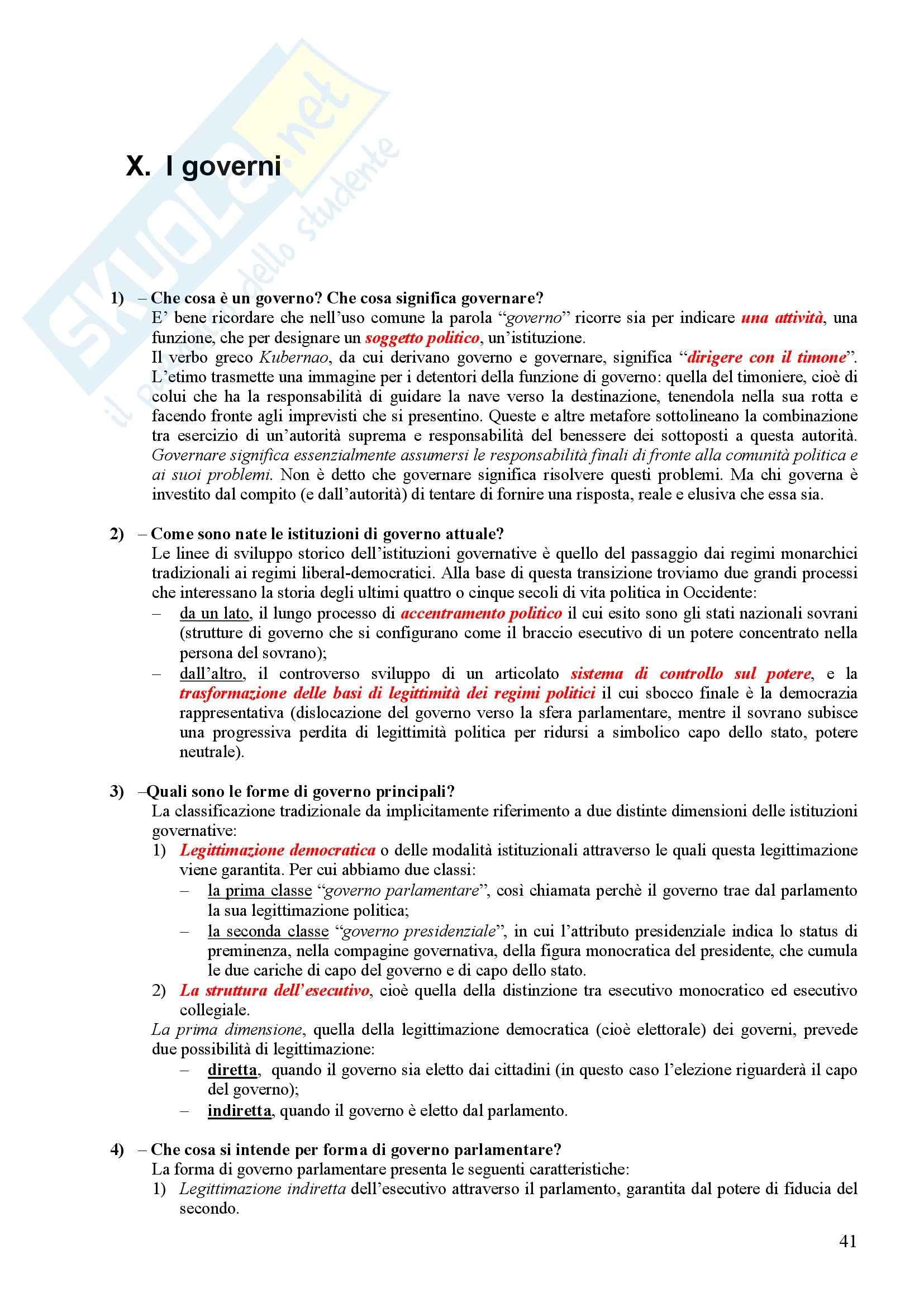 Scienza politica - Domande e risposte Pag. 41