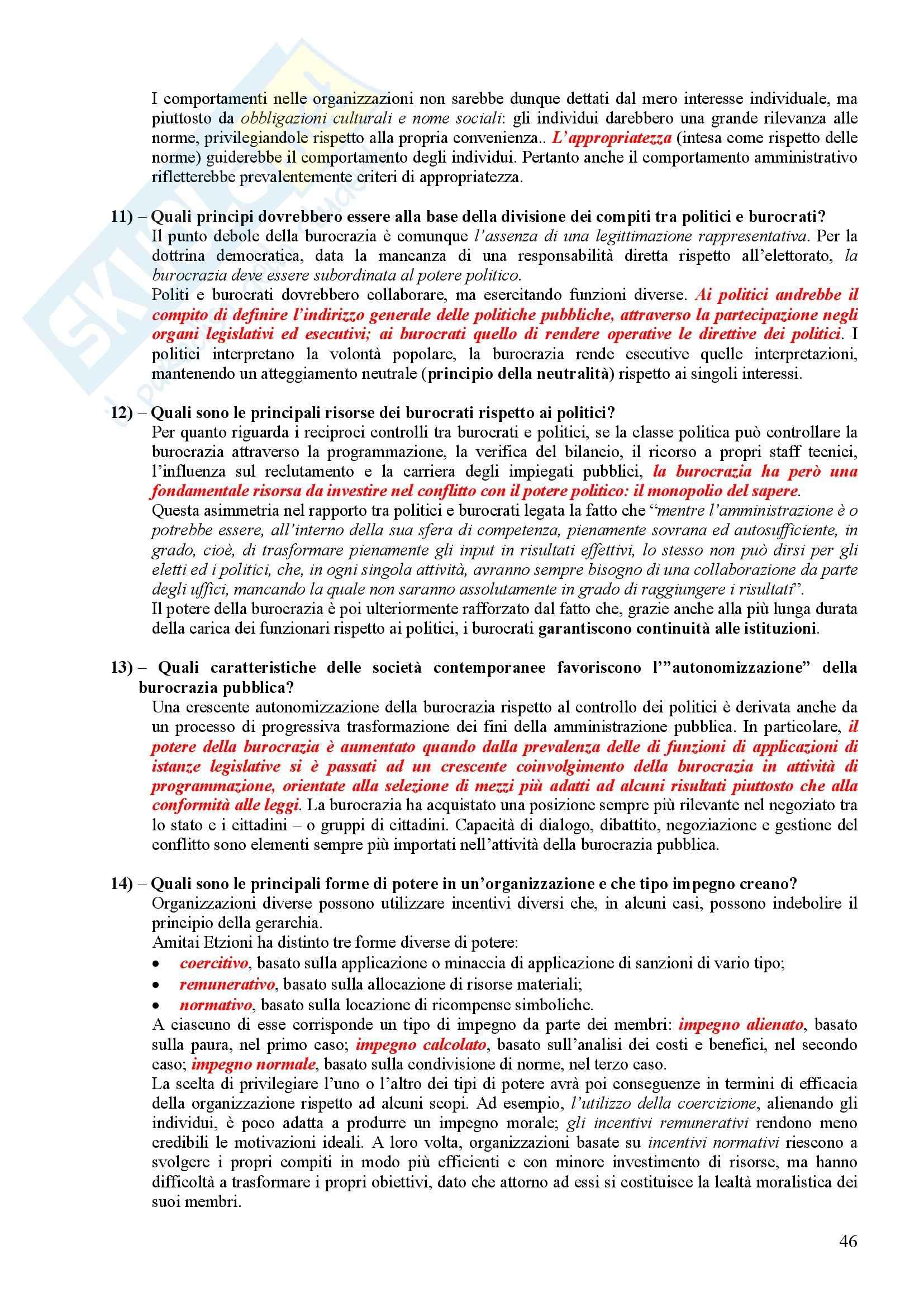 Scienza politica - Domande e risposte Pag. 46