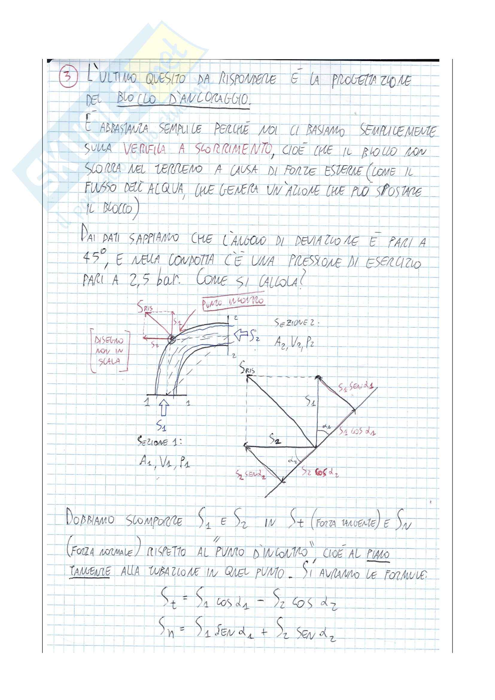 Adduzione a due serbatoi COMPLETO -svolgimento e spiegazione- Pag. 11