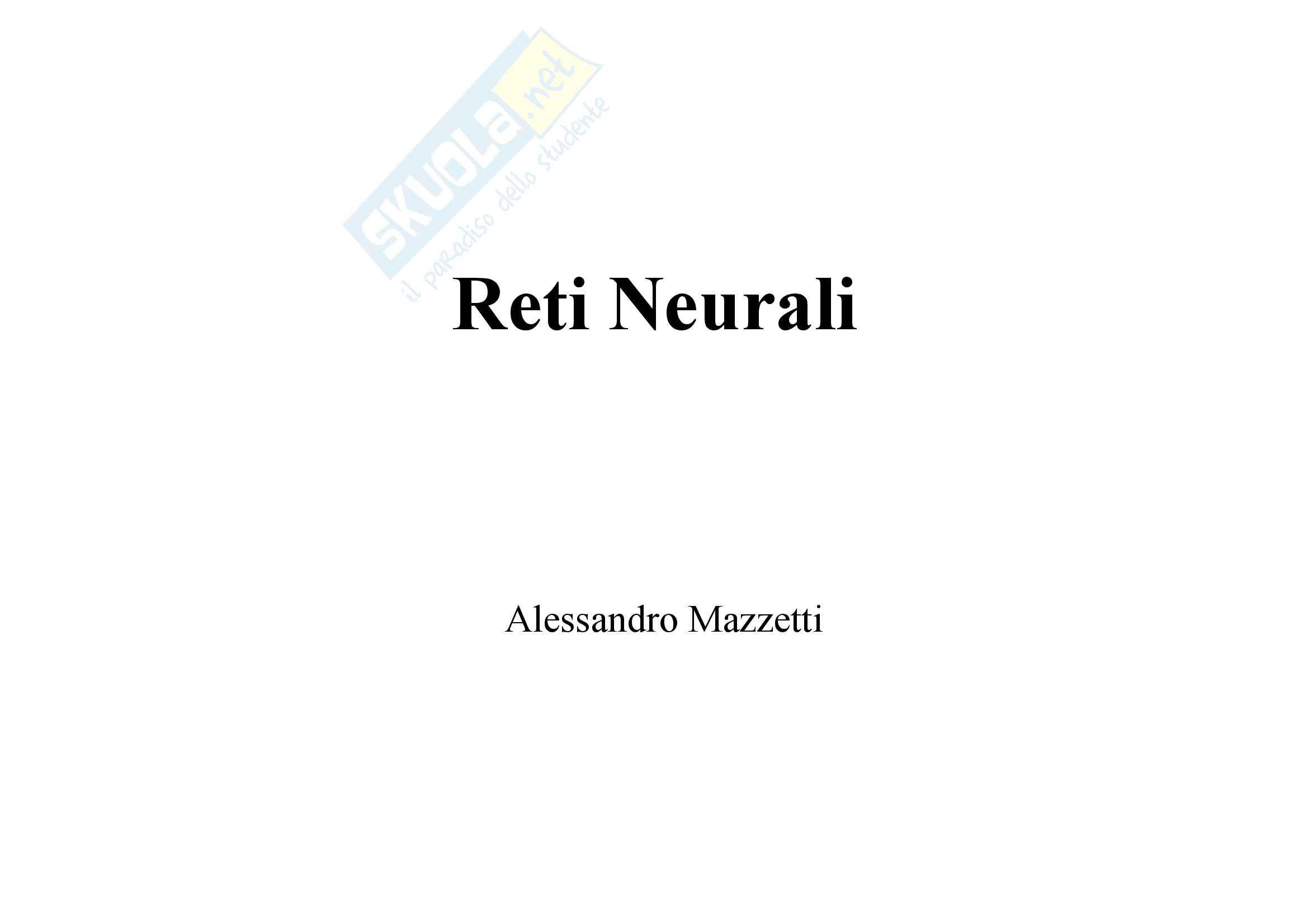 Ingegneria della conoscenza - le reti neurali