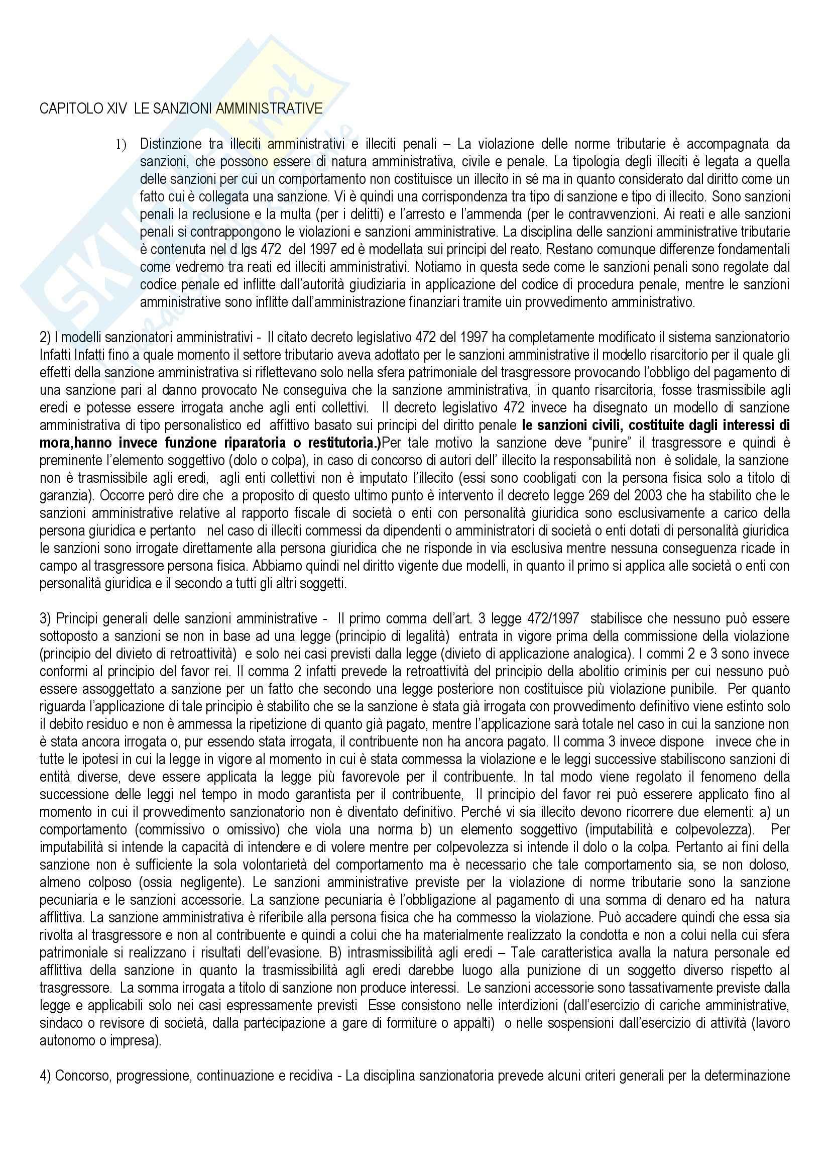 Diritto tributario - le sanzioni penali ed amministrative