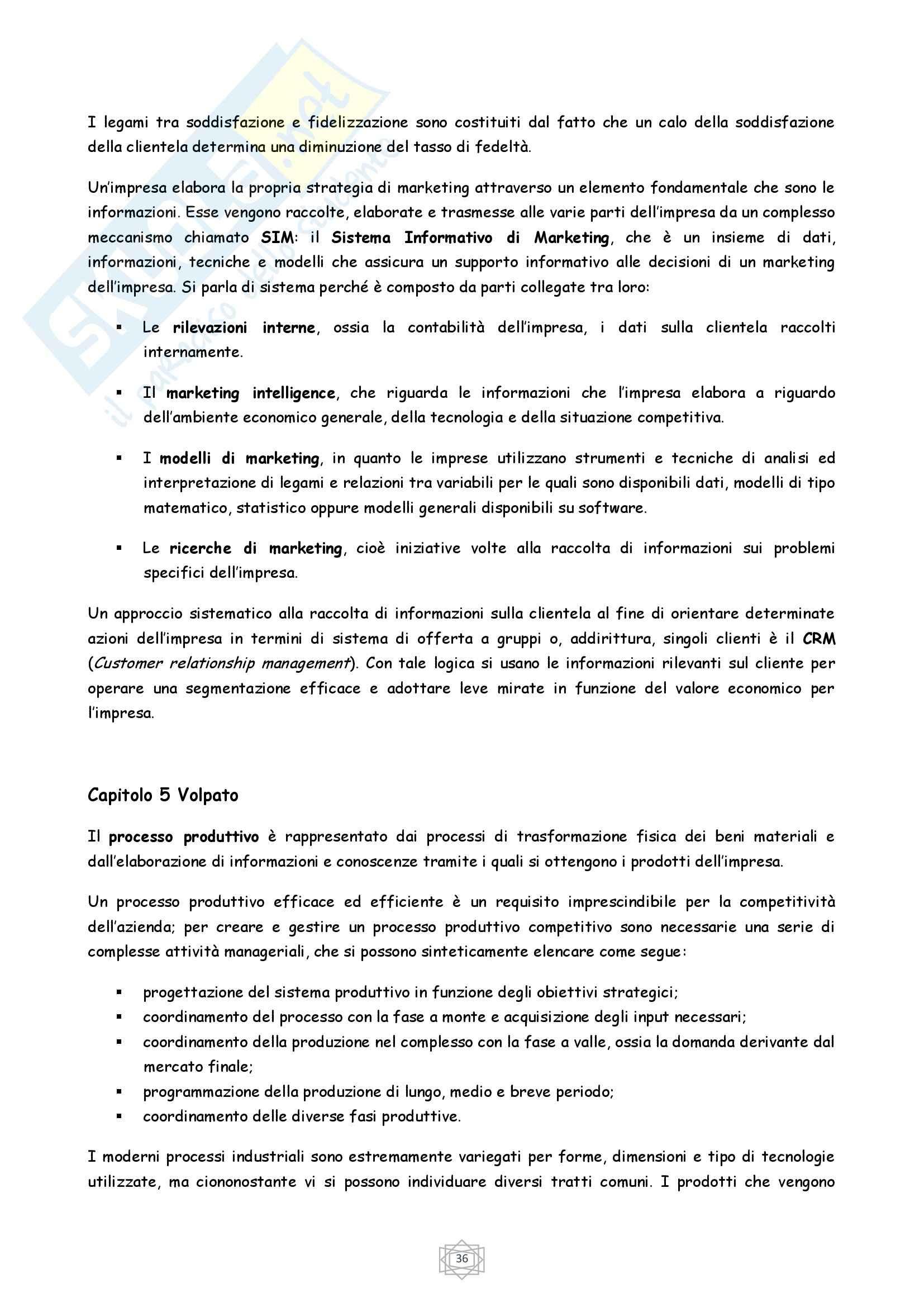 Riassunto esame Economia, prof. Porcheddu, libro consigliato Economia e Gestione delle Imprese, Volpato Pag. 36