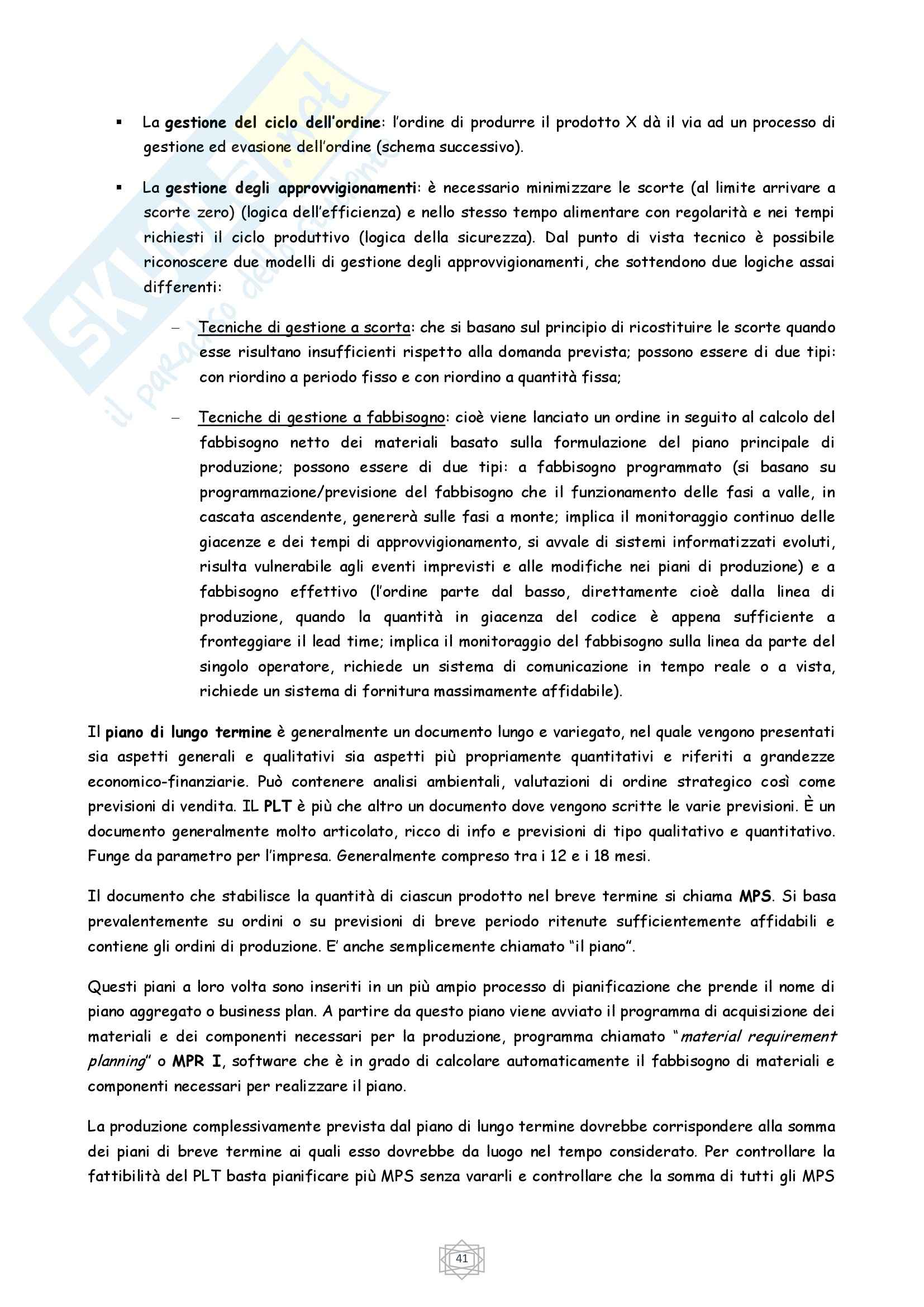 Riassunto esame Economia, prof. Porcheddu, libro consigliato Economia e Gestione delle Imprese, Volpato Pag. 41
