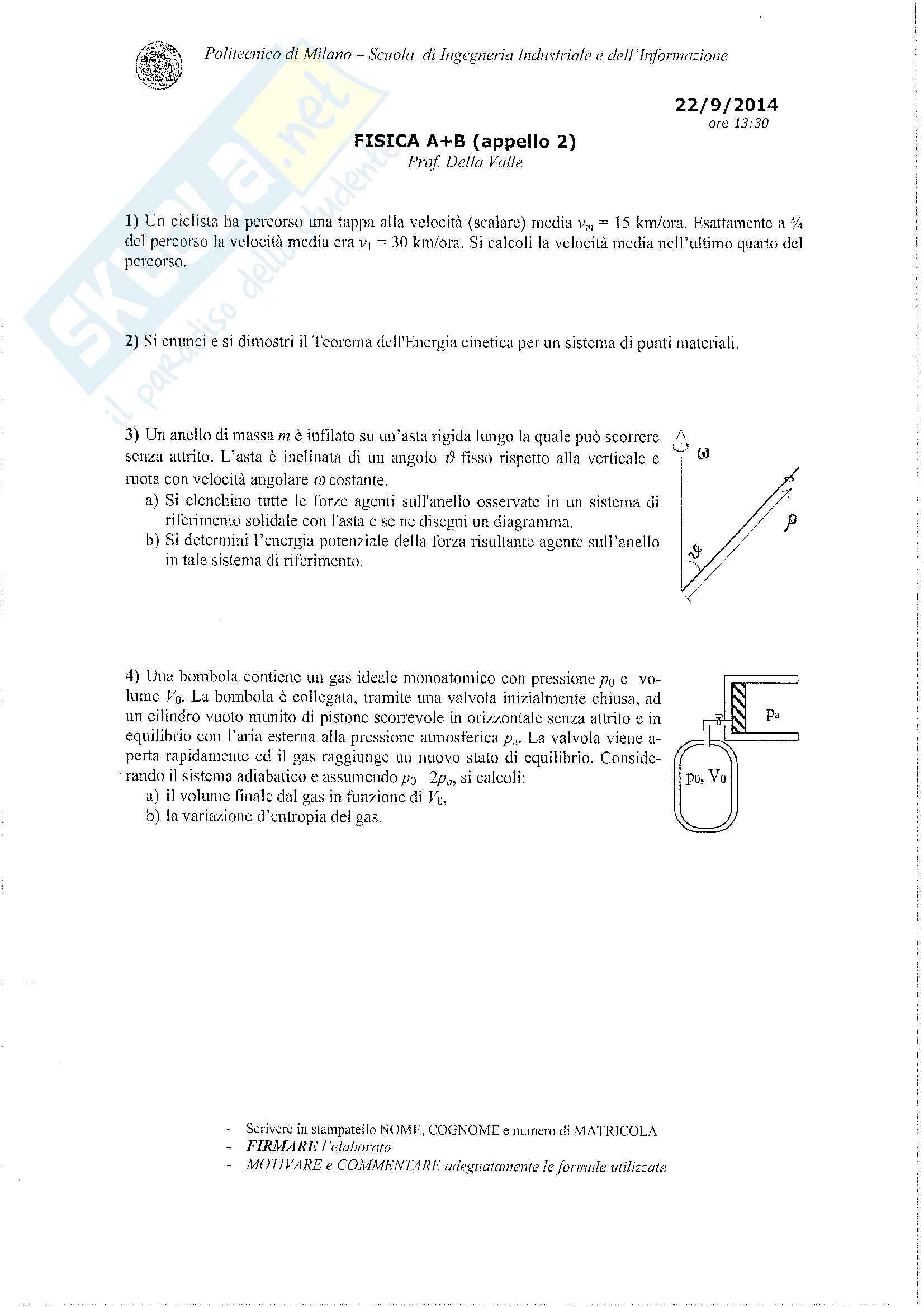 Testo e soluzione appello del 22 set 2014