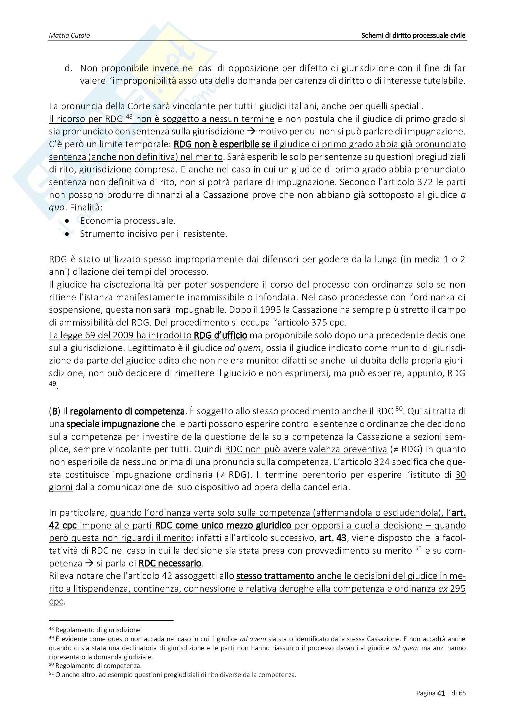 Appunti di diritto processuale civile Pag. 41