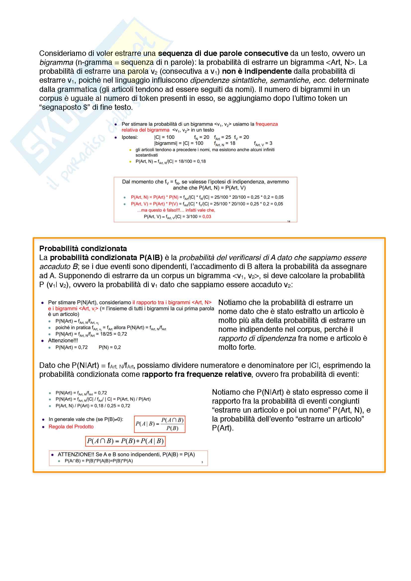 Riassunto esame Linguistica Computazionale, prof. Lenci, libro consigliato Testo e Computer di A. Lenci, S. Montemagni e V. Pirrelli Pag. 16