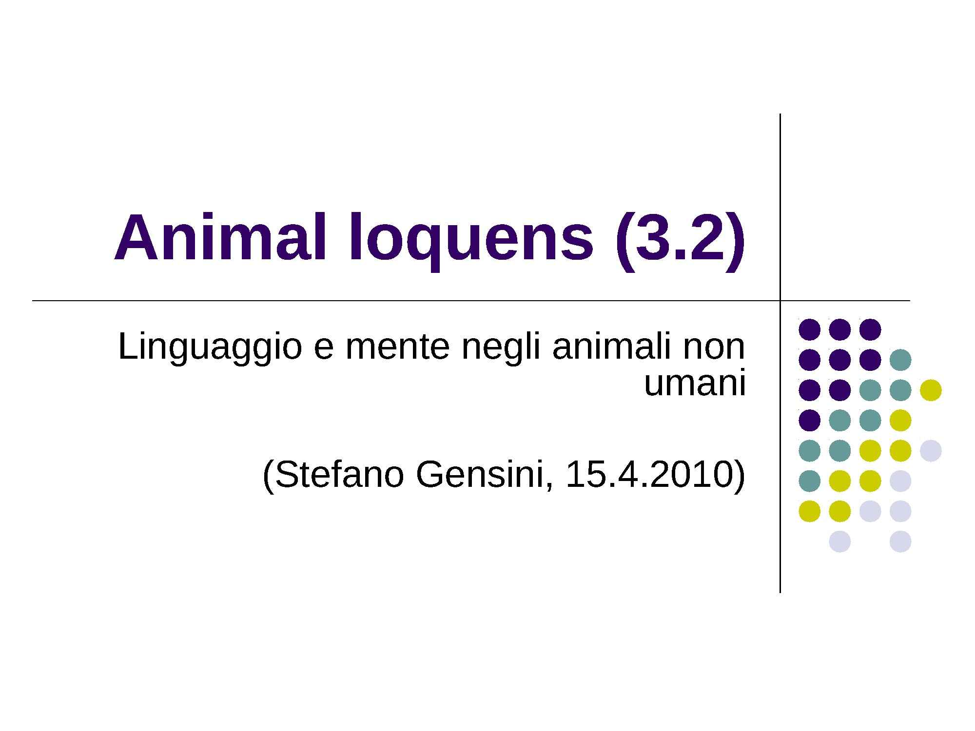 Animal loquens - Animali e comunicazione