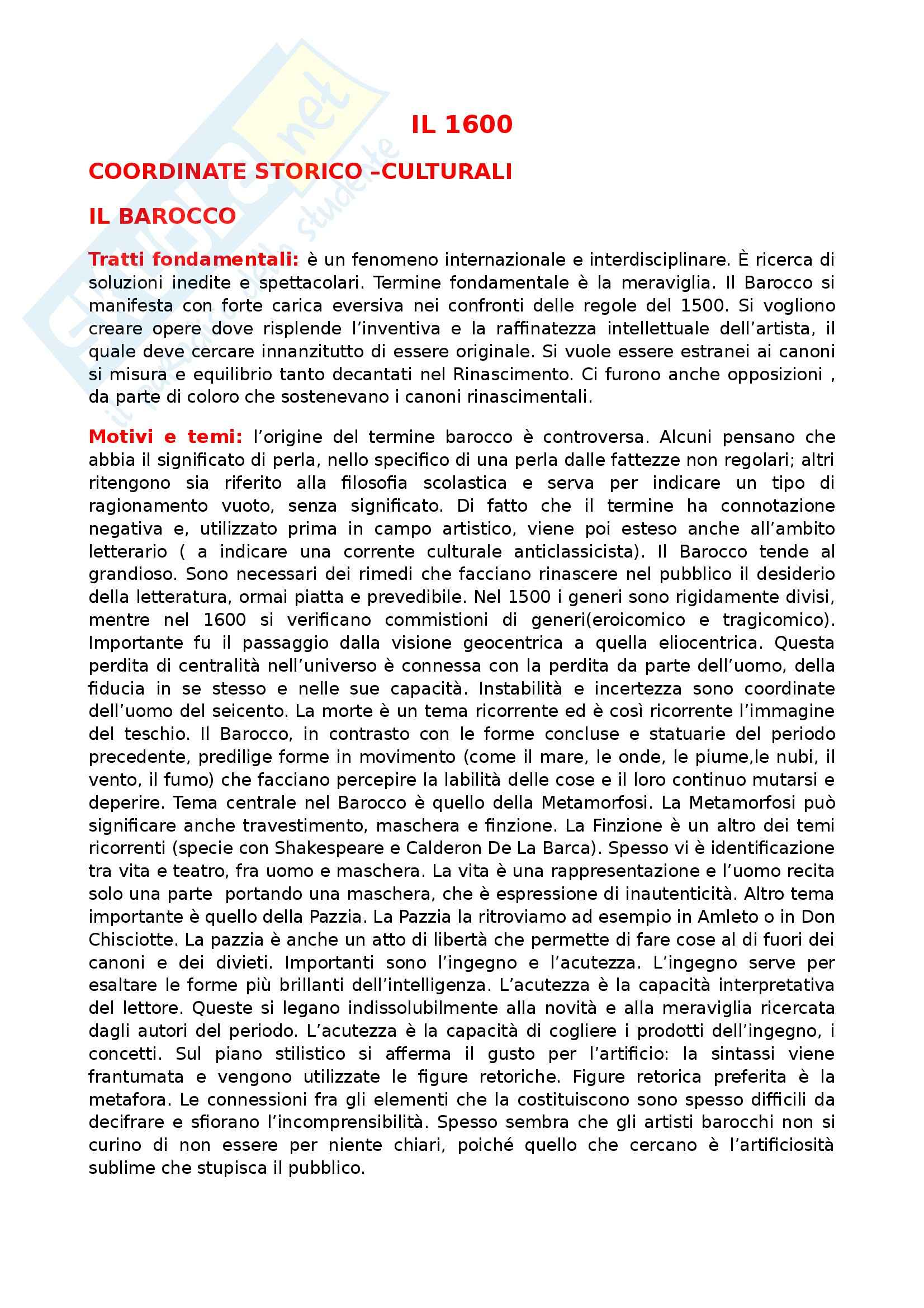 Letteratura italiana - Seicento