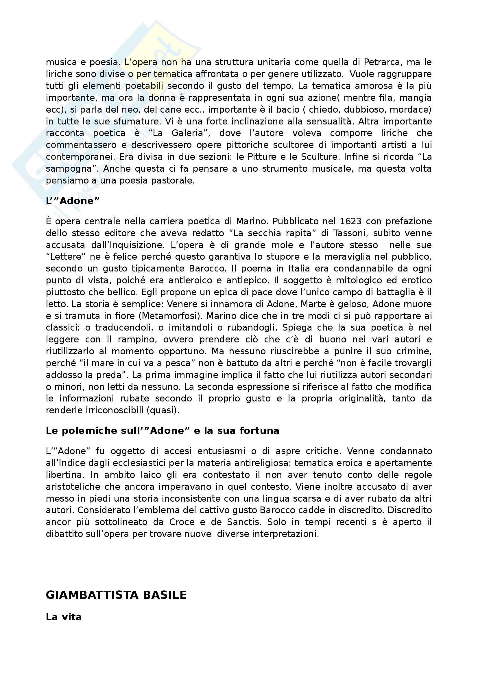 Letteratura italiana - Seicento Pag. 11