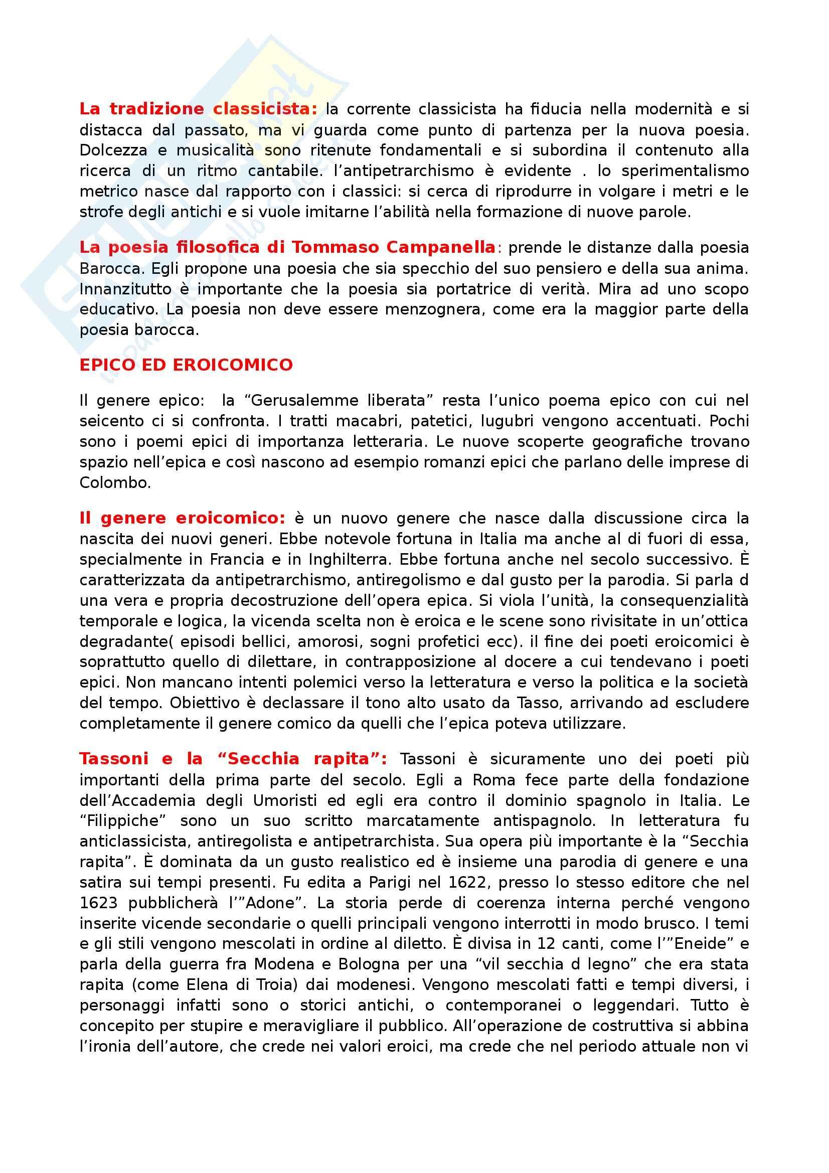 Letteratura italiana - Seicento Pag. 6