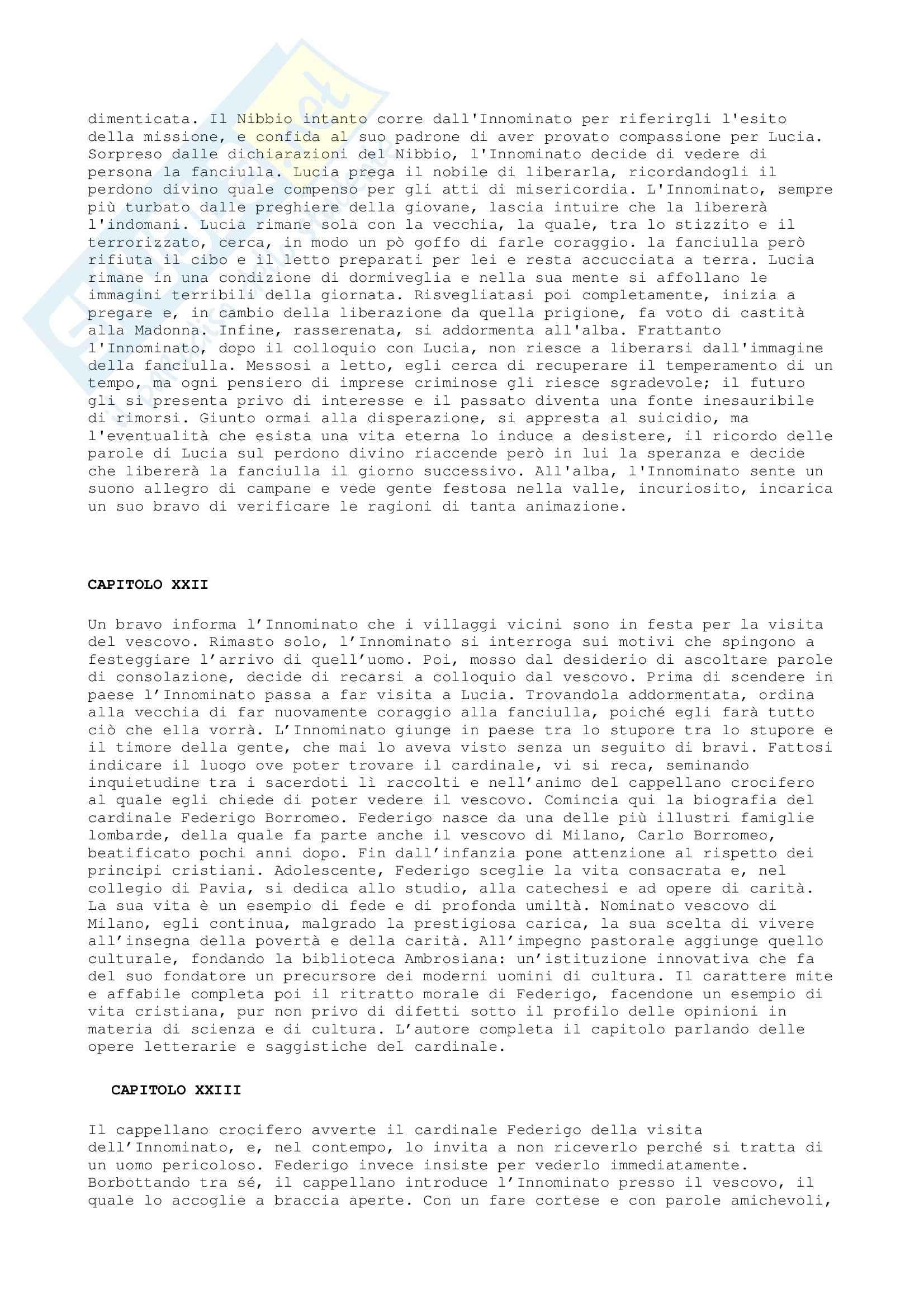 Letteratura italiana - i Promessi sposi Pag. 11