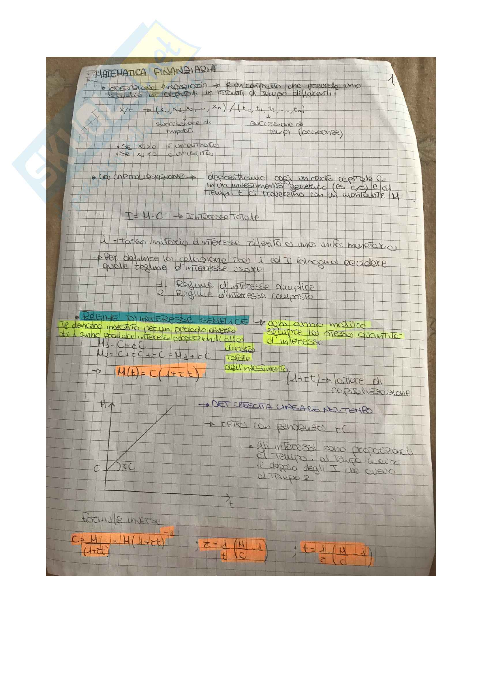 Teoria Matematica Finanziaria