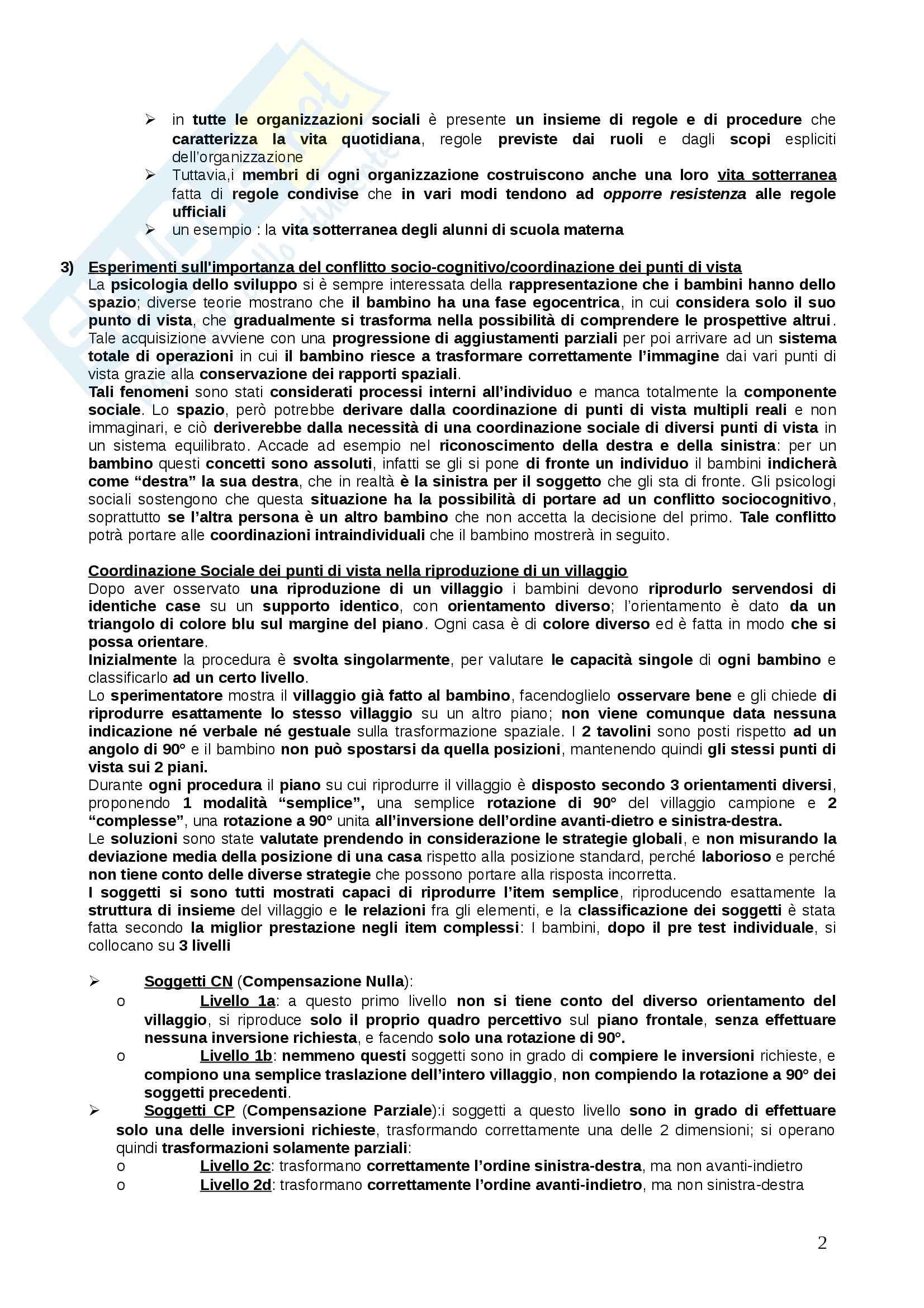 Riassunto esame psicologia dello sviluppo, prof. Mazzoni, libro consigliato Santrock Pag. 2