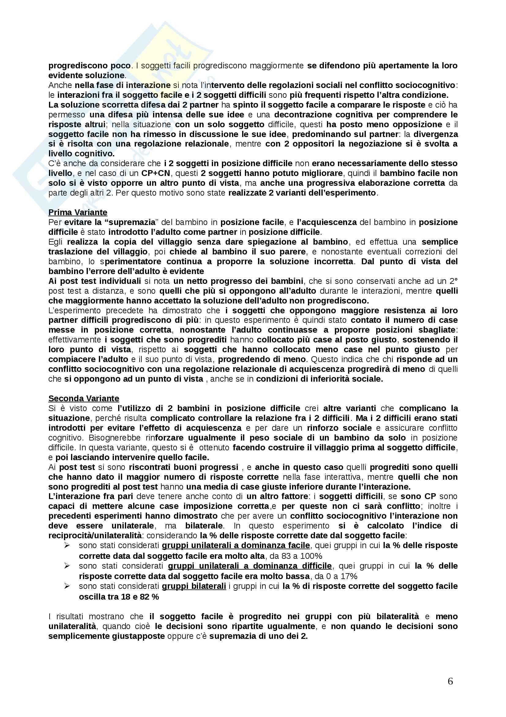 Riassunto esame psicologia dello sviluppo, prof. Mazzoni, libro consigliato Santrock Pag. 6