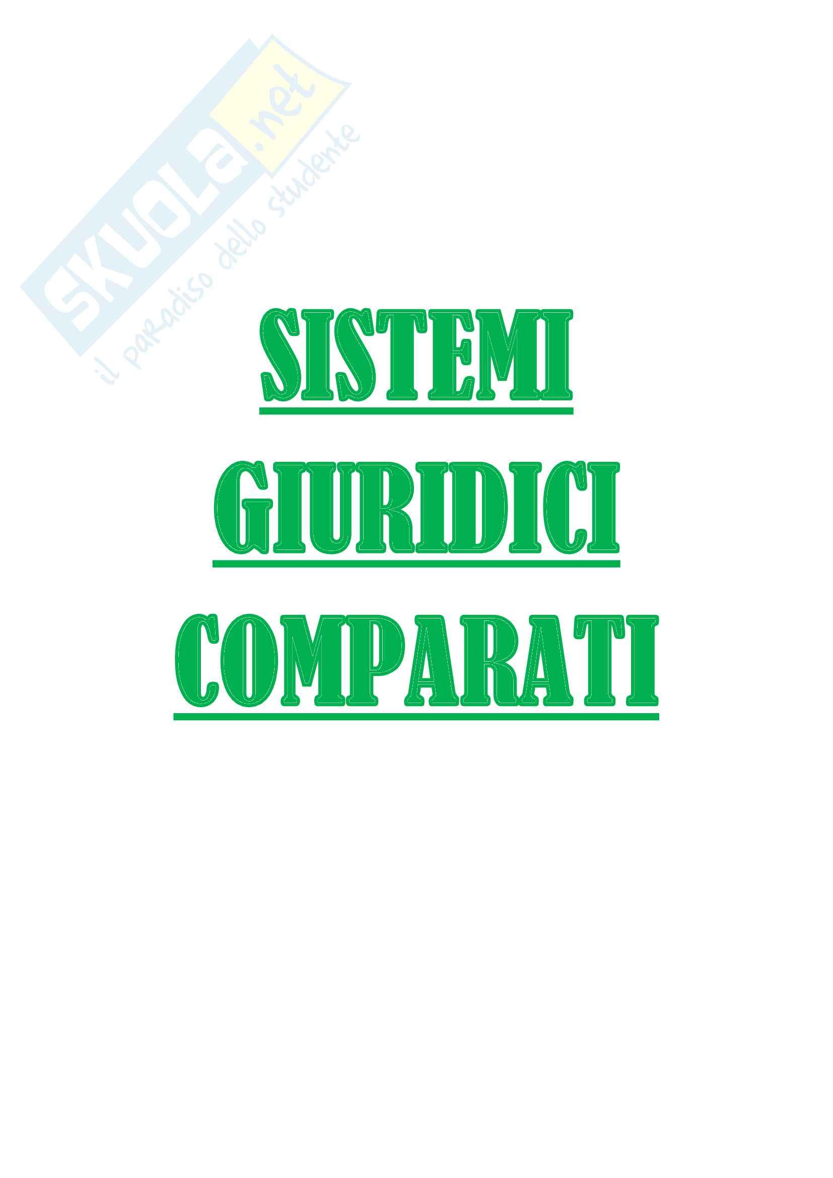 Riassunto esame Sistemi giuridici comparati - MZ - Prof. A. Fusaro, libri consigliati Gambaro, Sacco, e Tendenze del diritto privato in prospettiva comparatistica, Saggi