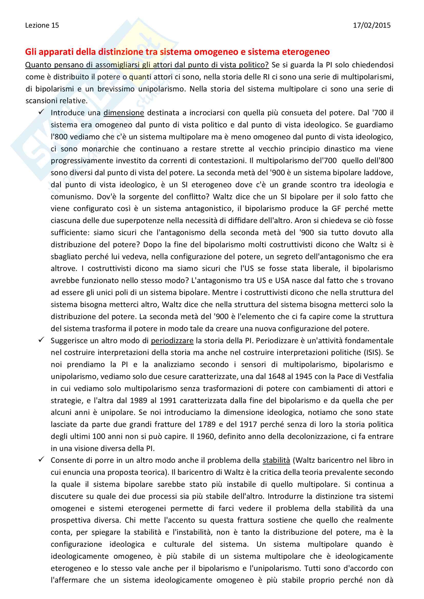 Sunto di Relazioni internazionali, prof. Colombo,UNIMI Pag. 56