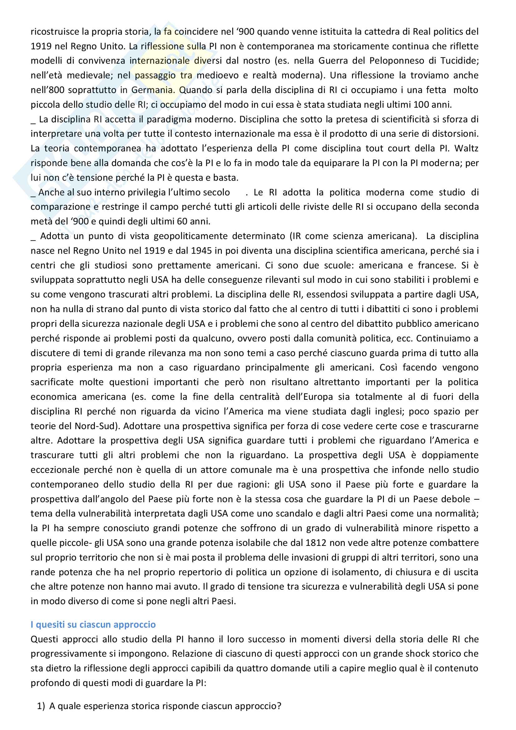 Sunto di Relazioni internazionali, prof. Colombo,UNIMI Pag. 6