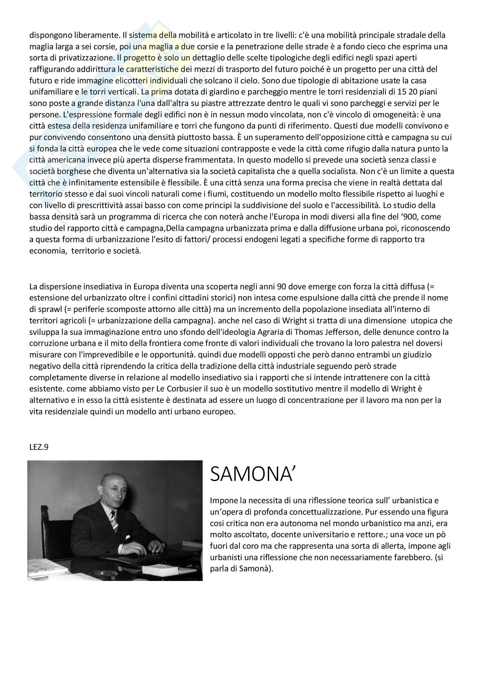 Urbanistica, Infussi, lezioni e bibliografia Pag. 16