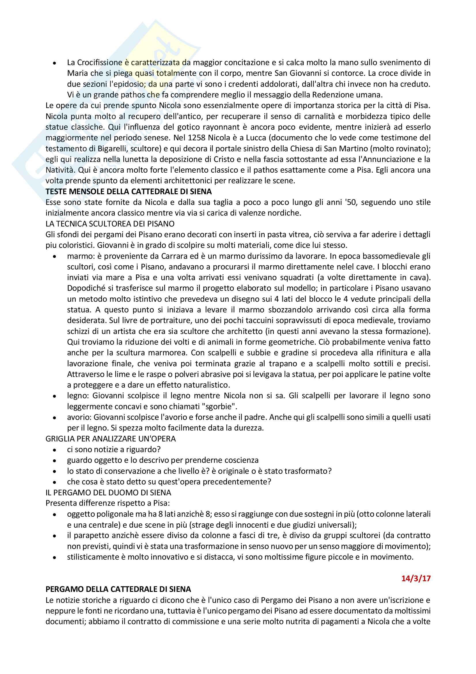 Riassunto esame Arte Medievale, Prof Rossi-Buganza - Gotico a Siena Pag. 6