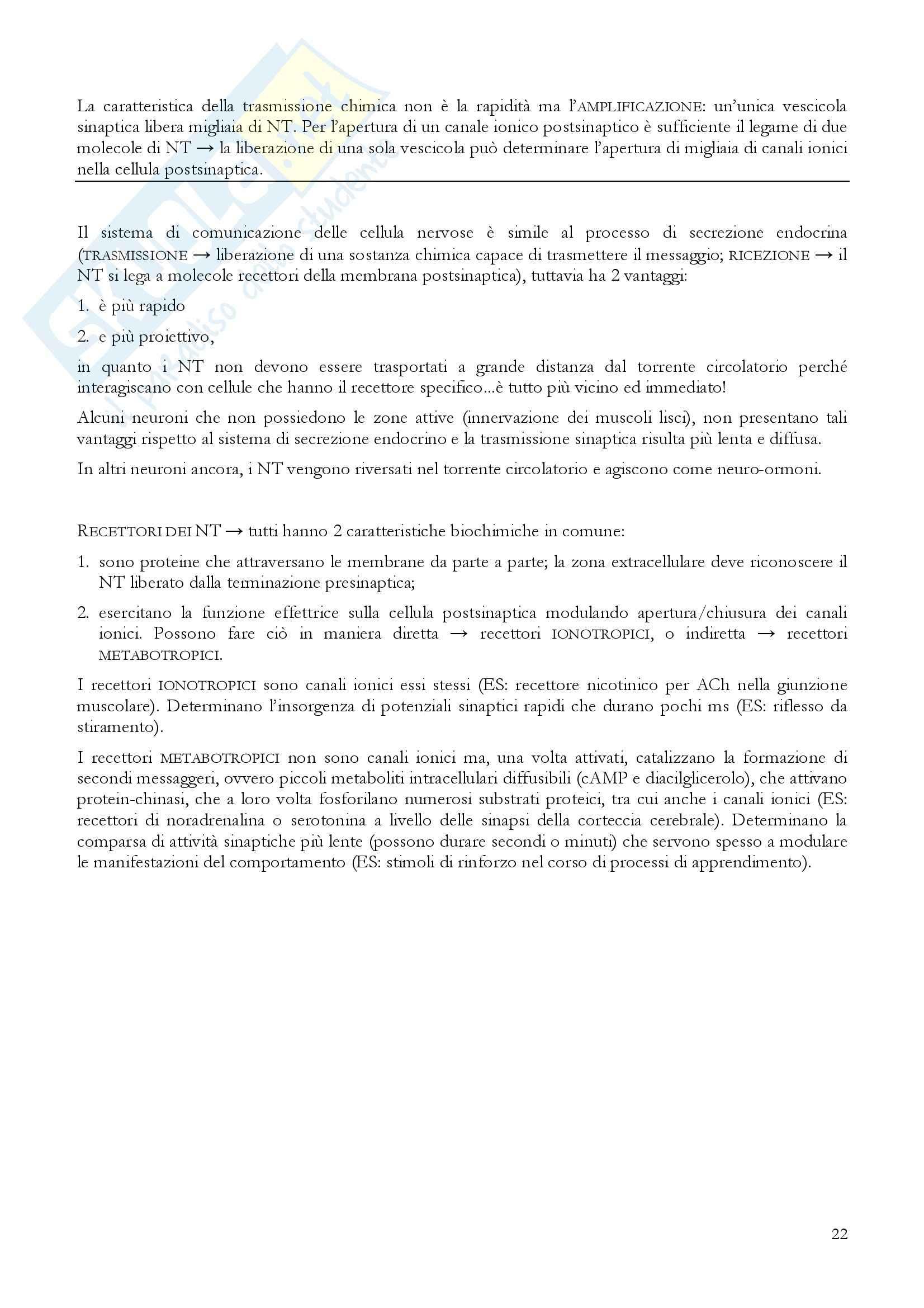 Riassunto esame Fisiologia, prof. Incerpi, libro consigliato Fisiologia: Un approccio integrato, Silverthon Pag. 26