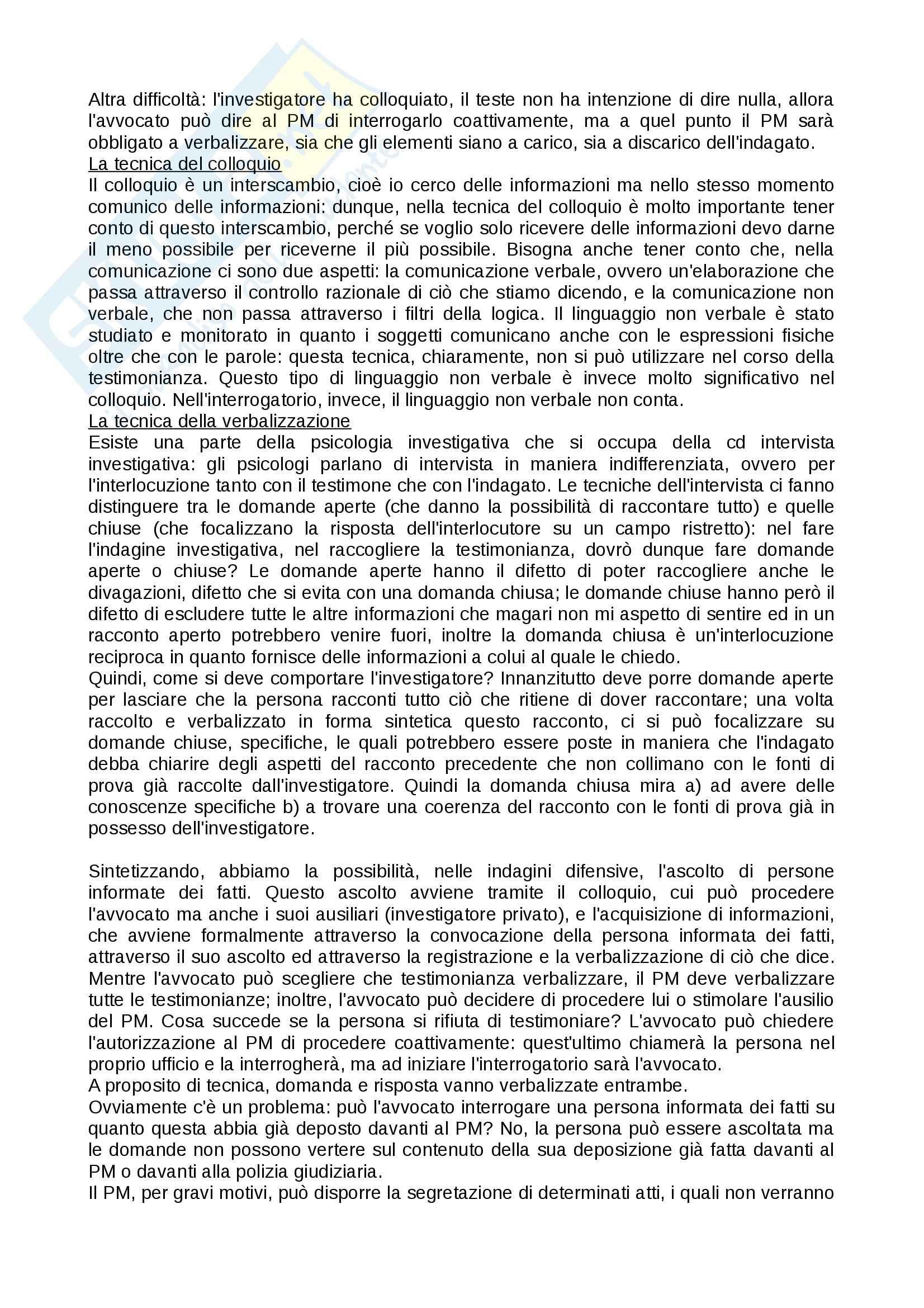 Tecniche investigative applicate - Appunti Pag. 31