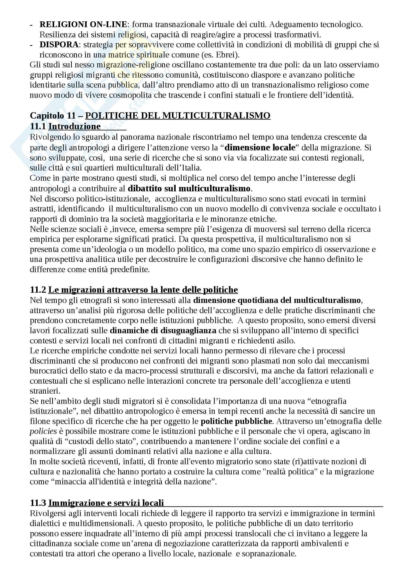 Riassunto esame Antropologia, prof. Riccio, libro consigliato Antropologia e migrazioni Pag. 21