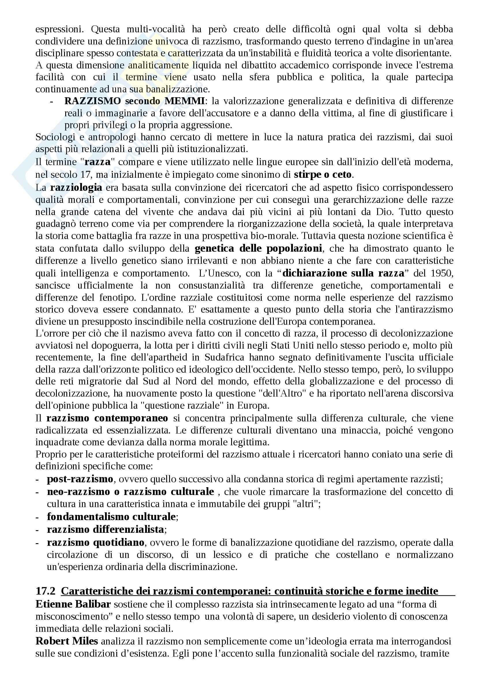 Riassunto esame Antropologia, prof. Riccio, libro consigliato Antropologia e migrazioni Pag. 26