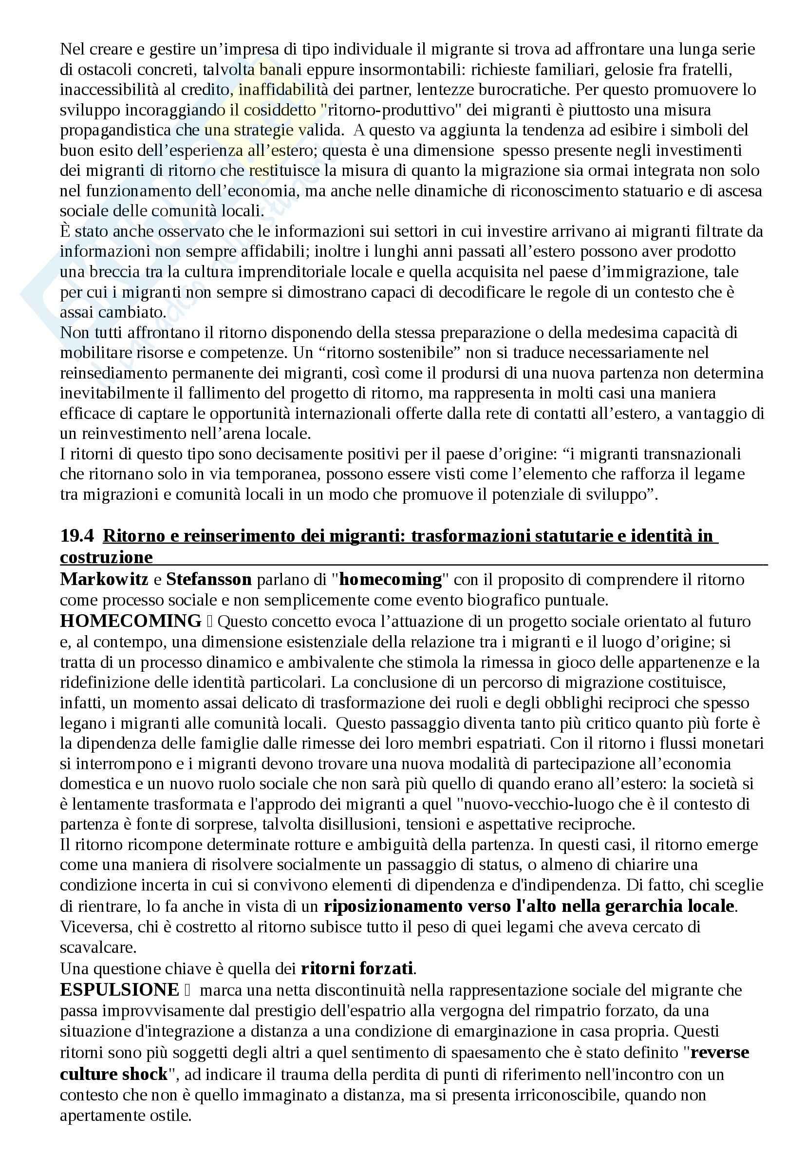 Riassunto esame Antropologia, prof. Riccio, libro consigliato Antropologia e migrazioni Pag. 31