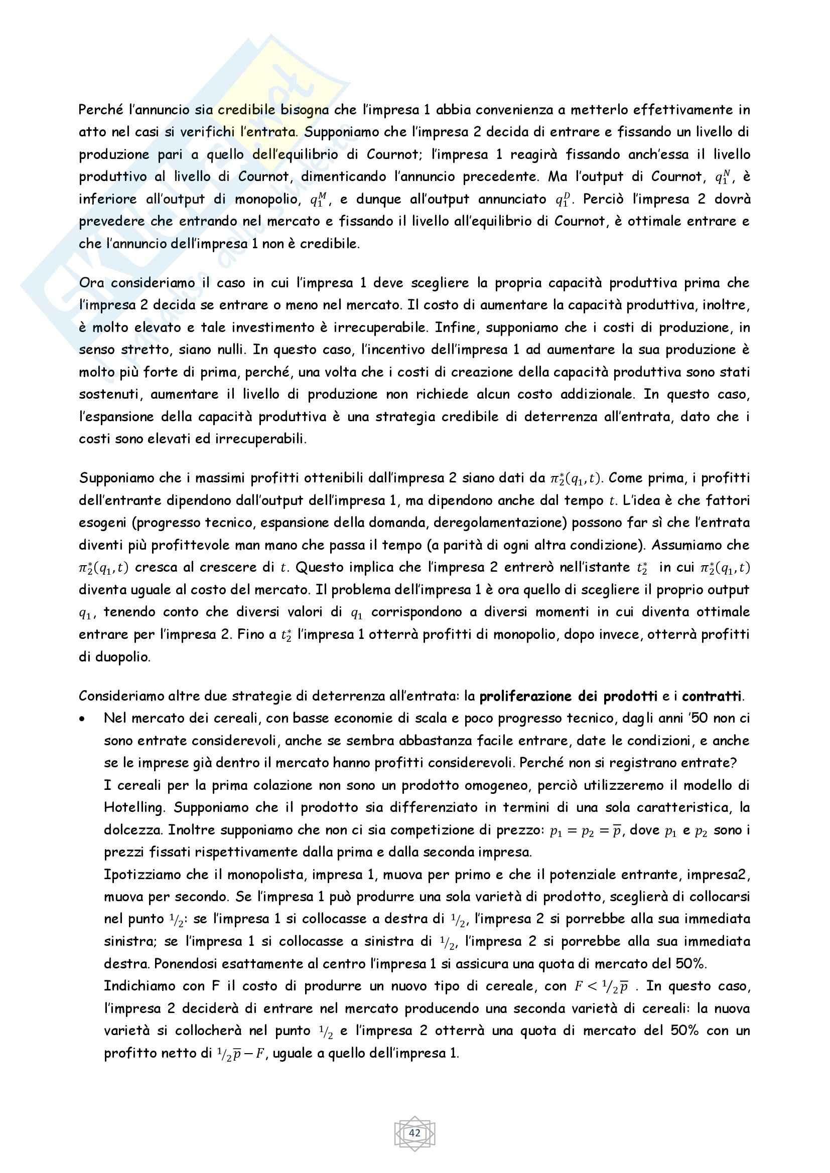 Riassunto esame Economia Industriale, prof. Atzeni, libro consigliato Economia Industriale, Cabral (parte 2) Pag. 16