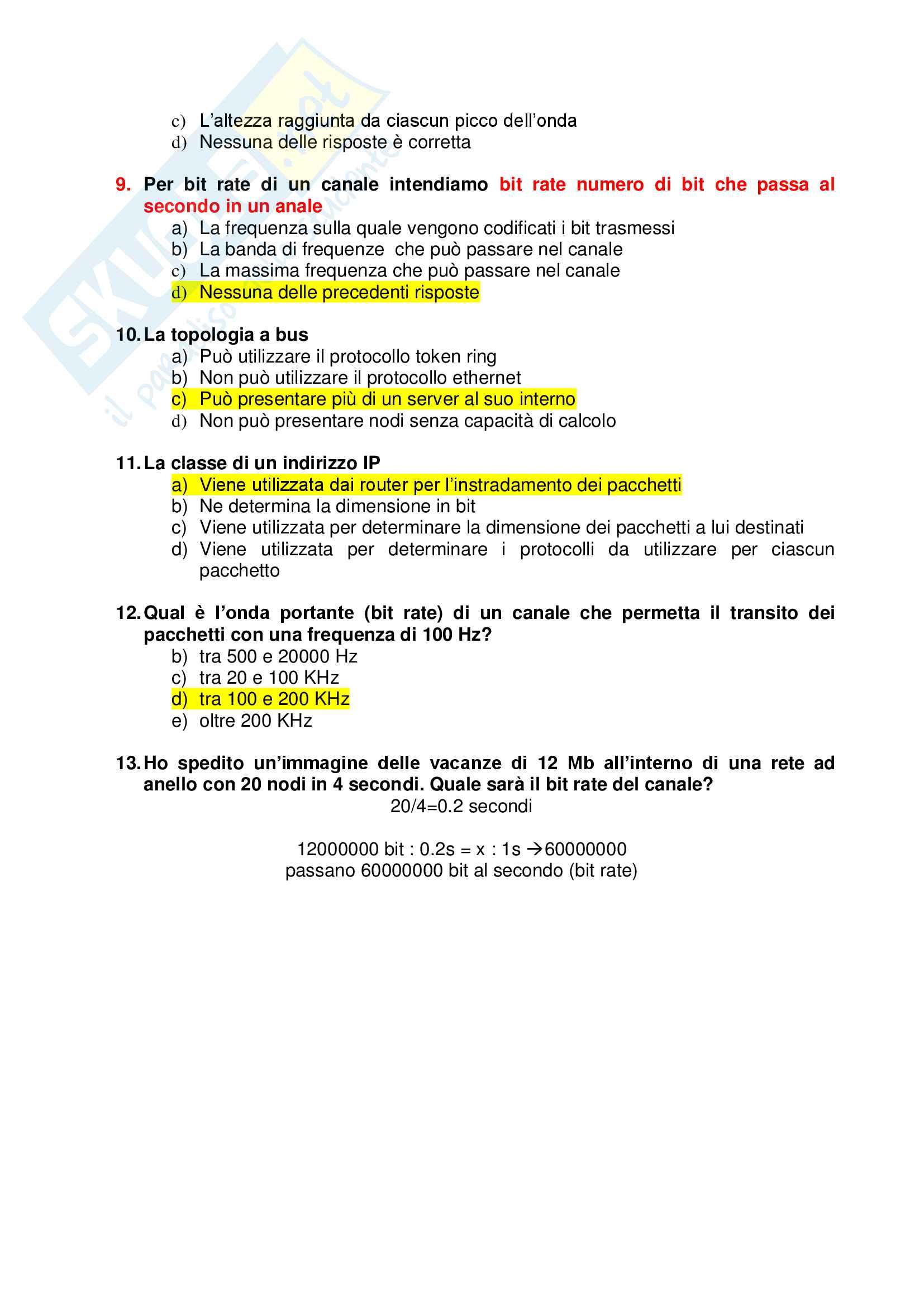 Simulazione ed esercizi di informatica svolti, prof. Frosini e Pergola Pag. 2