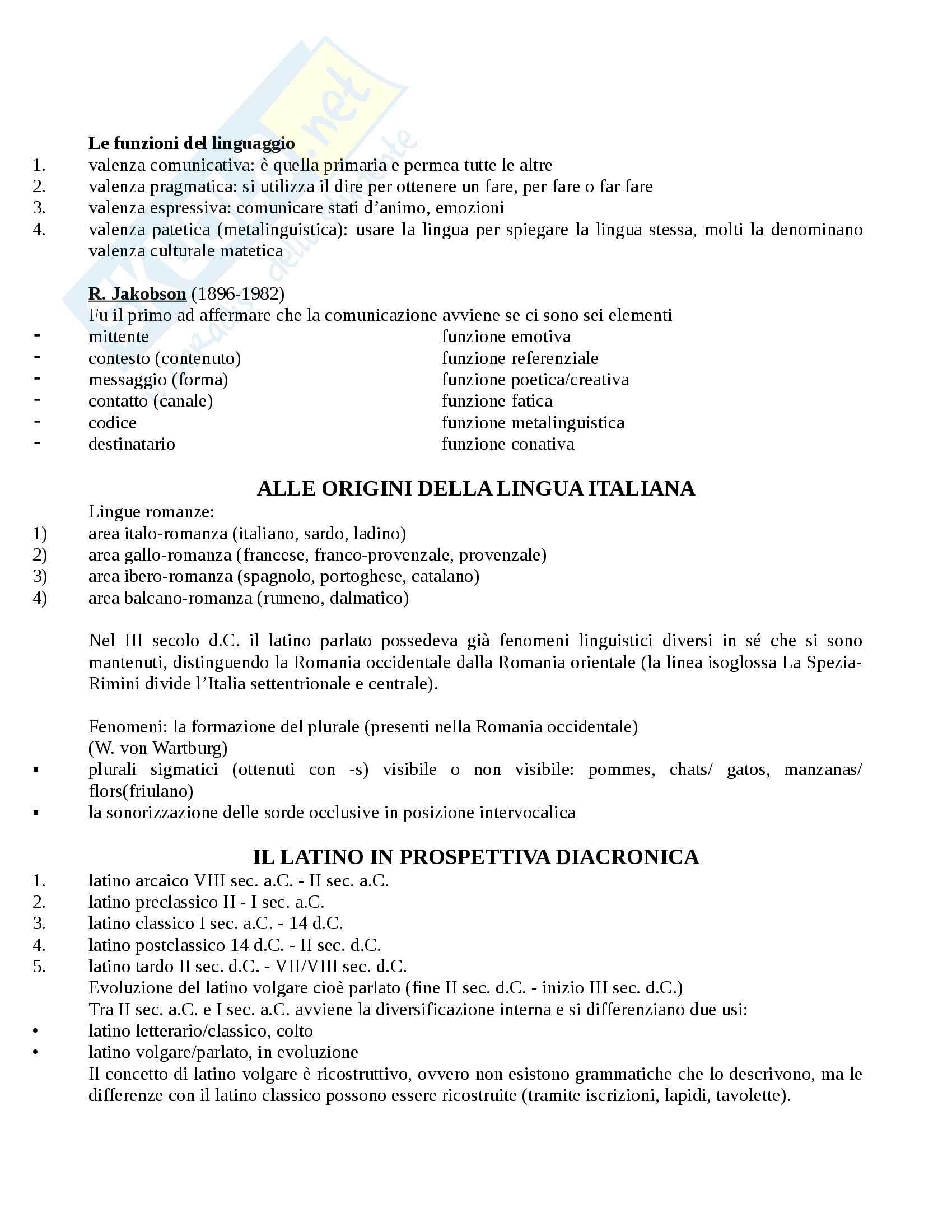 Appunti completi Linguistica Italiana - Prof. Cacia Pag. 2